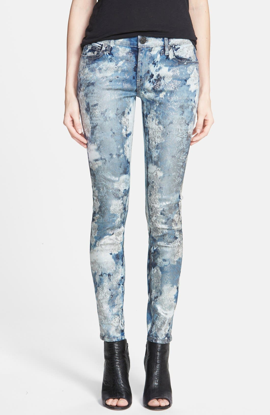 Alternate Image 1 Selected - True Religion Brand Jeans 'Casey' Low Rise Skinny Jeans (If By Morning)