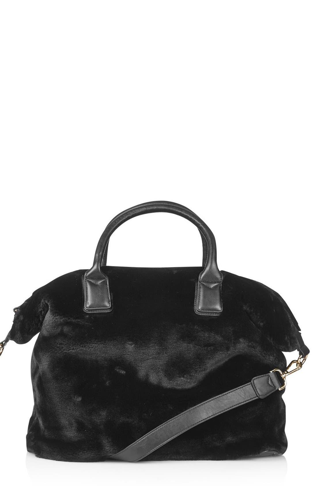Main Image - Topshop Faux Fur Carryall Bag