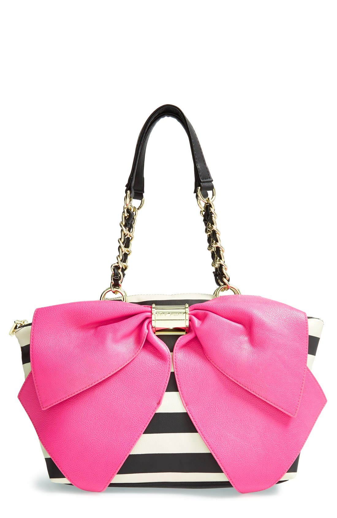 Main Image - Betsey Johnson 'Bow-nanza' Satchel (Online Only)