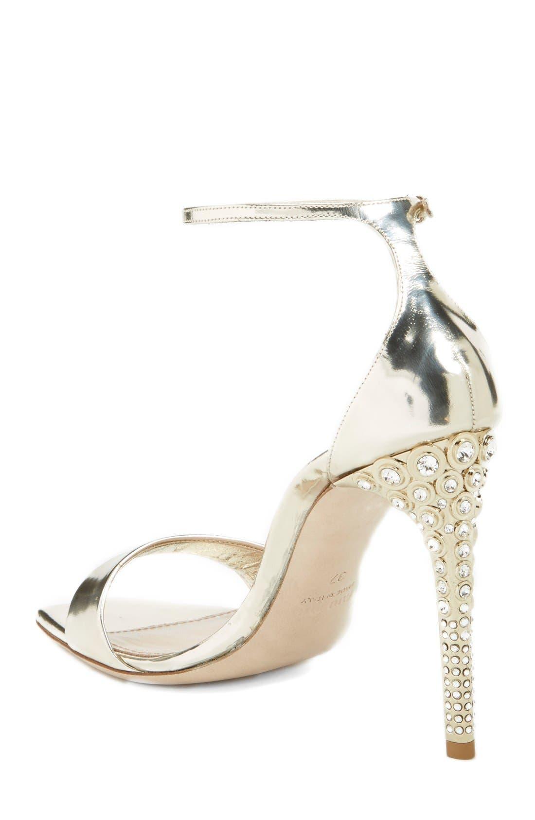 Alternate Image 2  - Miu Miu Metallic Ankle Strap Sandal (Women)