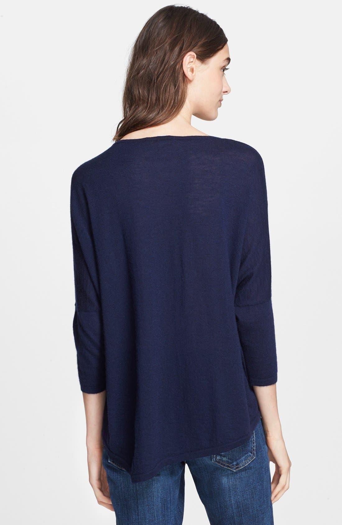 Alternate Image 2  - autumn cashmere Drop Shoulder Asymmetrical Cashmere Sweater