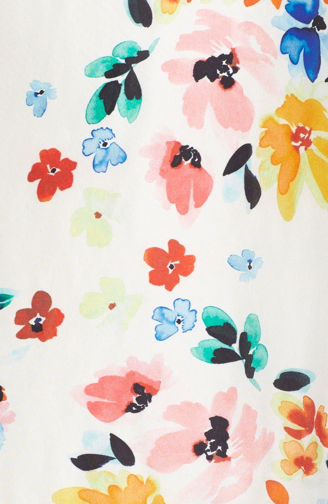 Alternate Image 4  - CeCe by Cynthia Steffe Floral Print Drop Waist Dress (Regular & Petite)