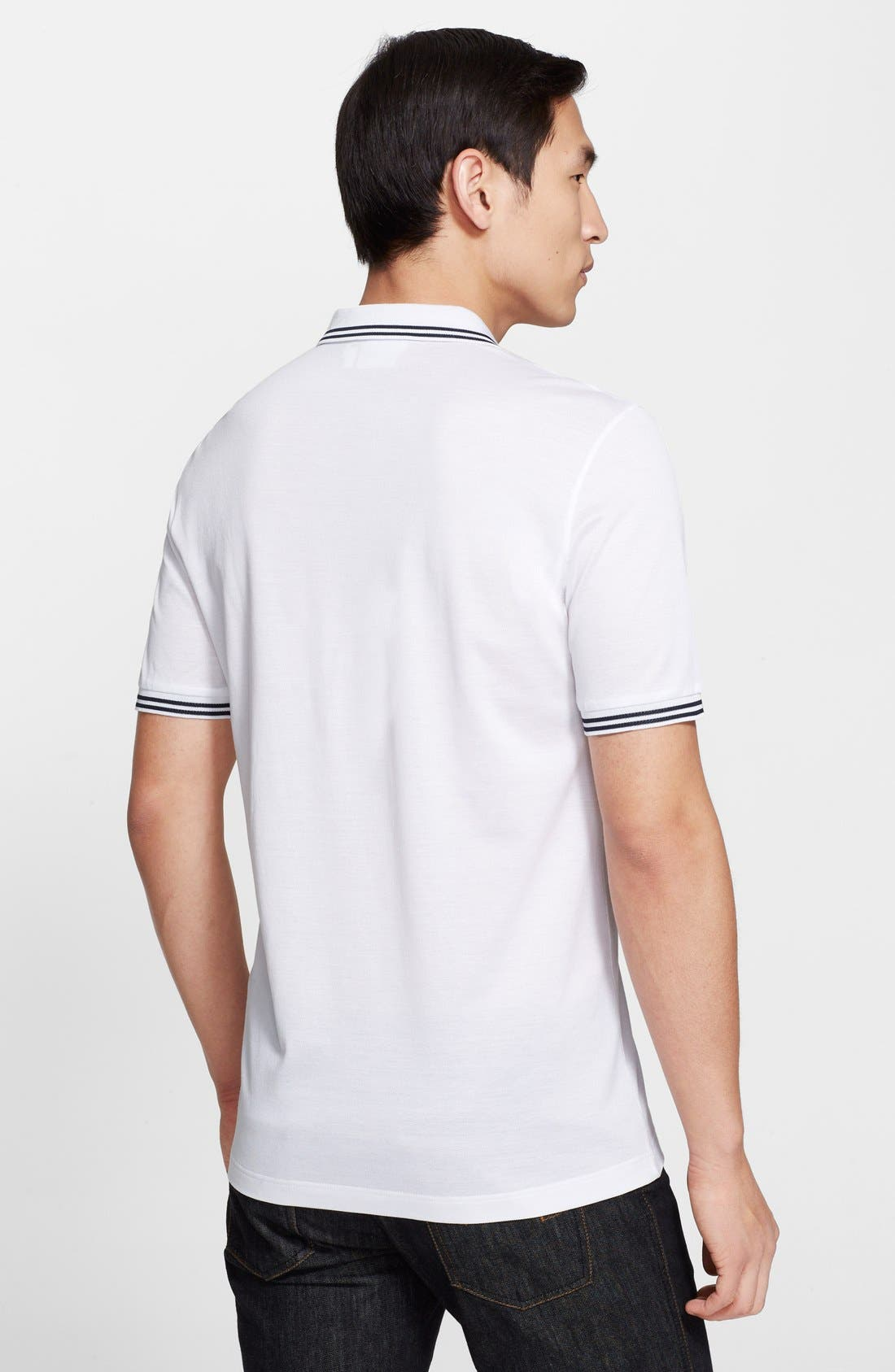 Alternate Image 2  - Salvatore Ferragamo Piqué Trim Fit Polo
