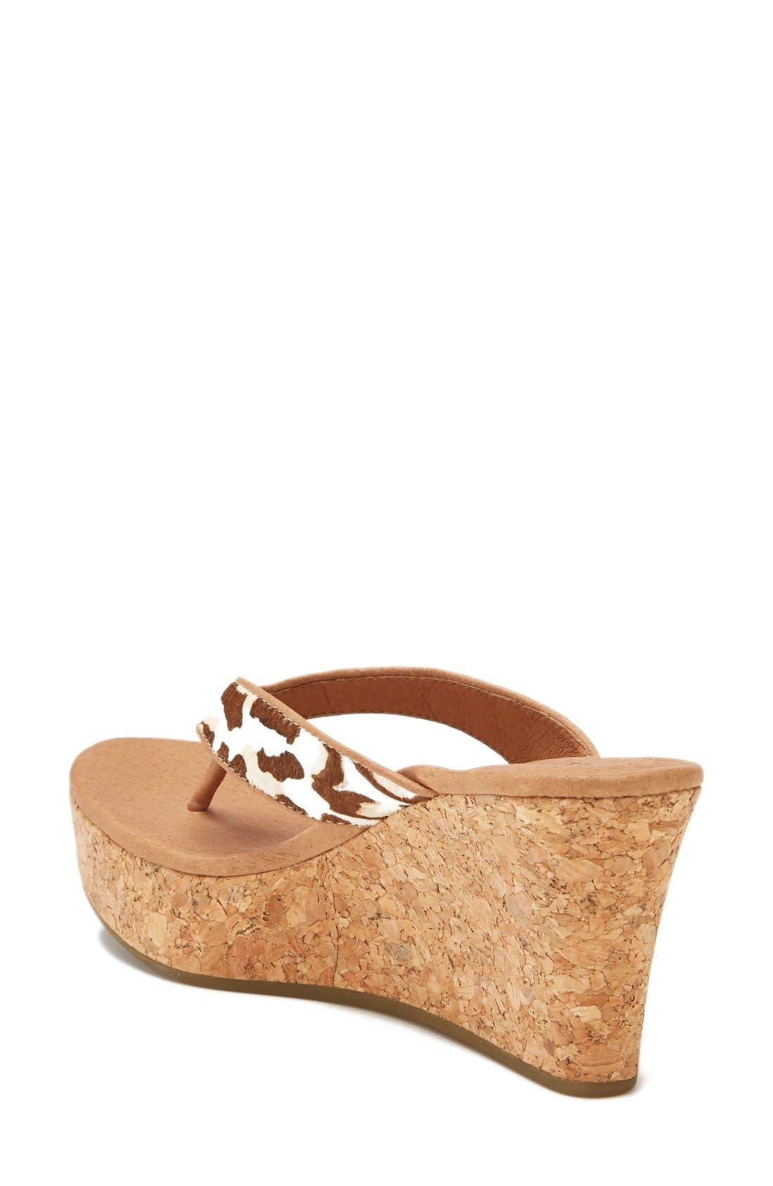 Alternate Image 2  - UGG Australia 'Natassia' Calf Hair Wedge Sandal (Women)