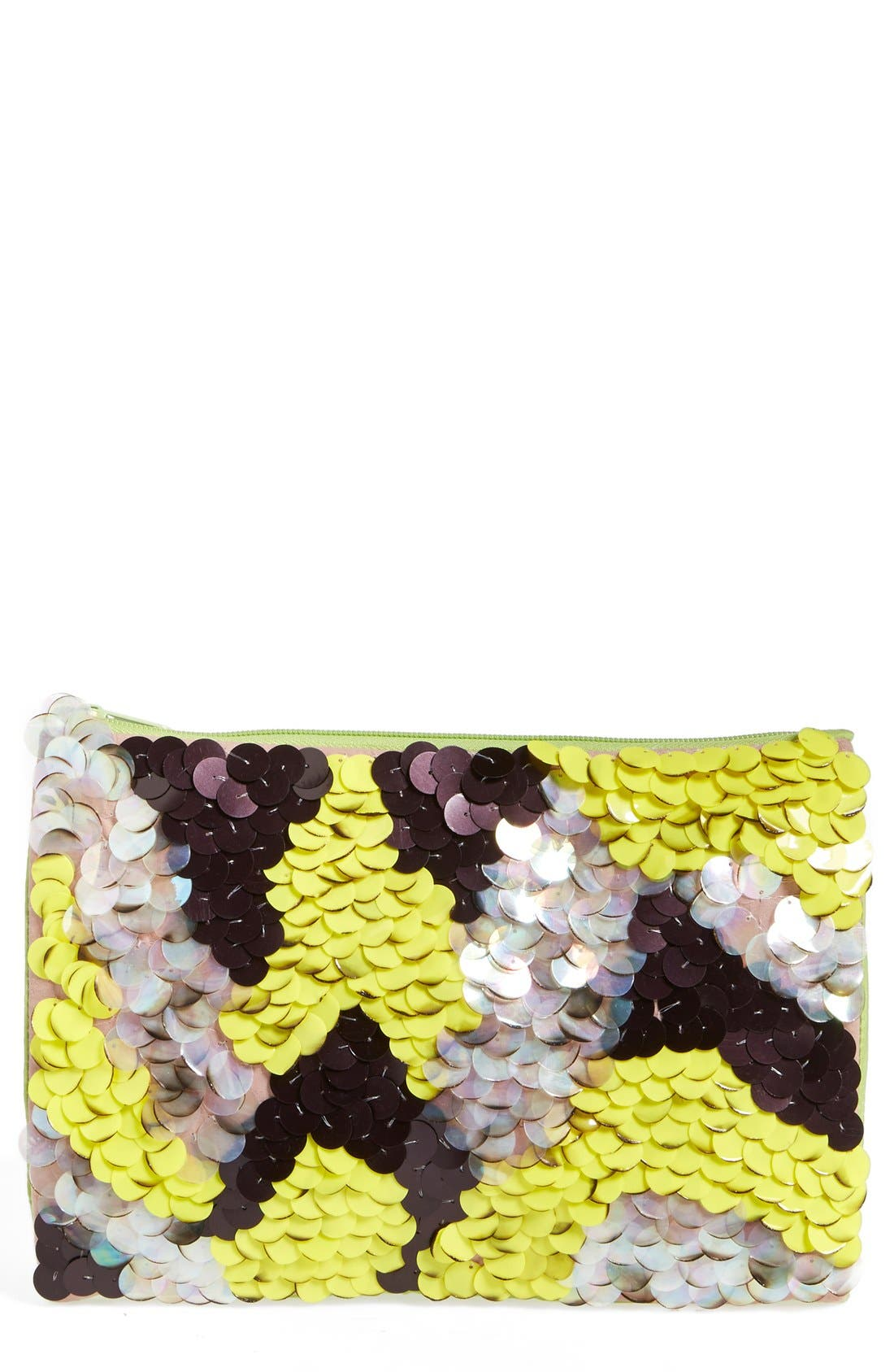 Alternate Image 1 Selected - Berry Ombré Sequin Clutch