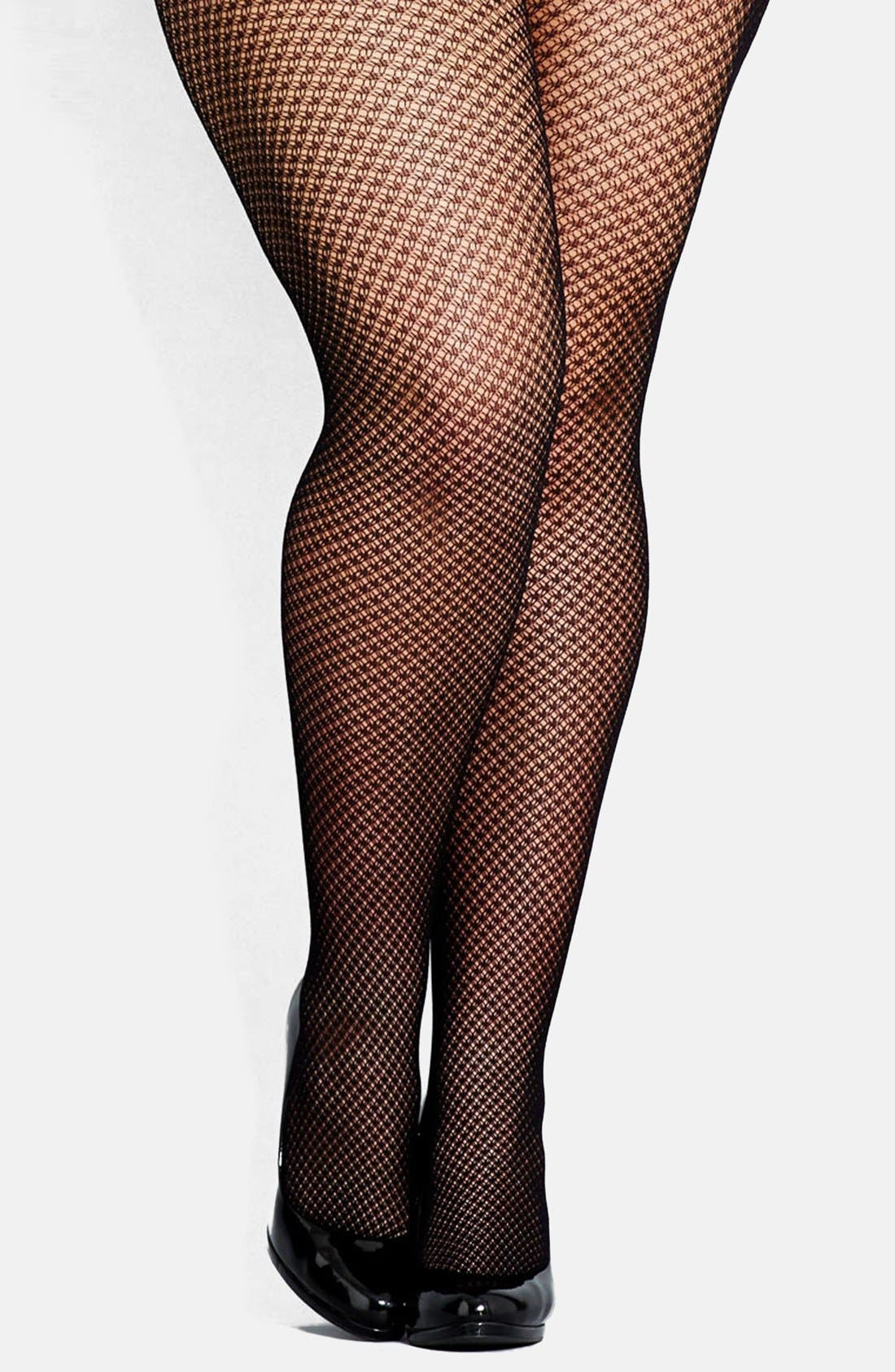 Alternate Image 1 Selected - City Chic Fishnet Tights (Plus Size)
