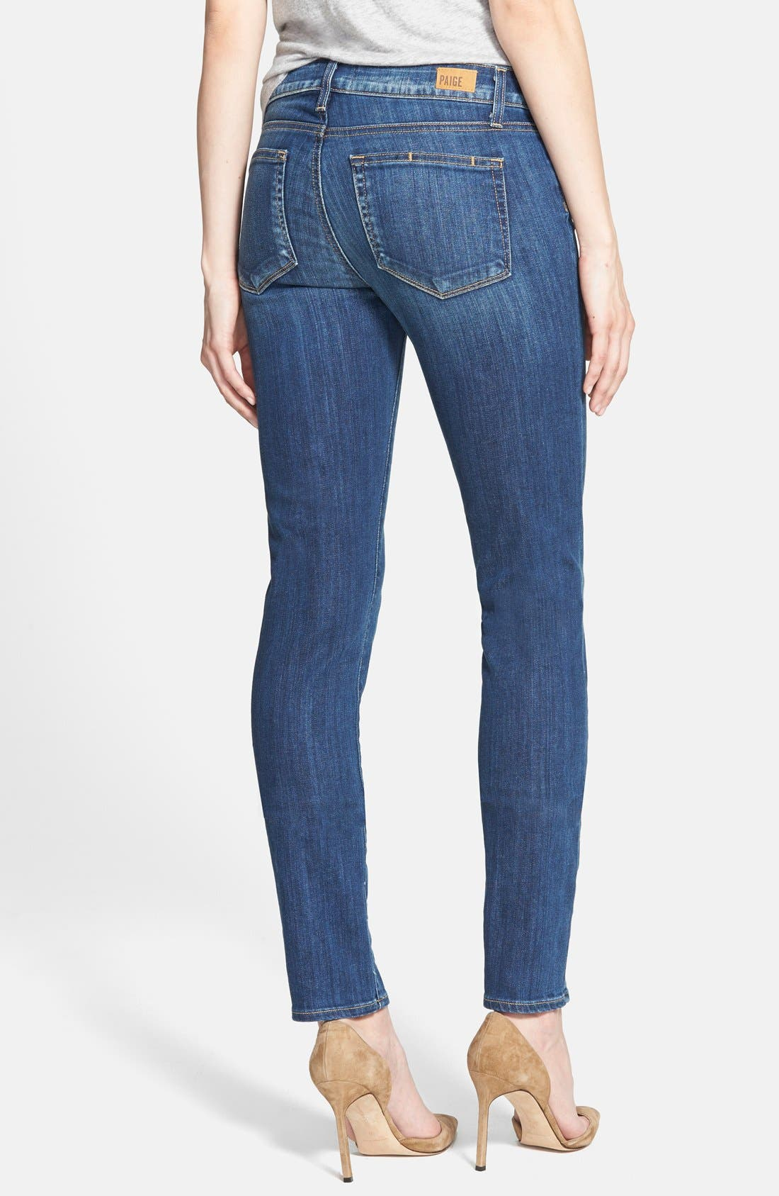 Alternate Image 2  - Paige Denim 'Skyline' Skinny Jeans (Orson Blue)