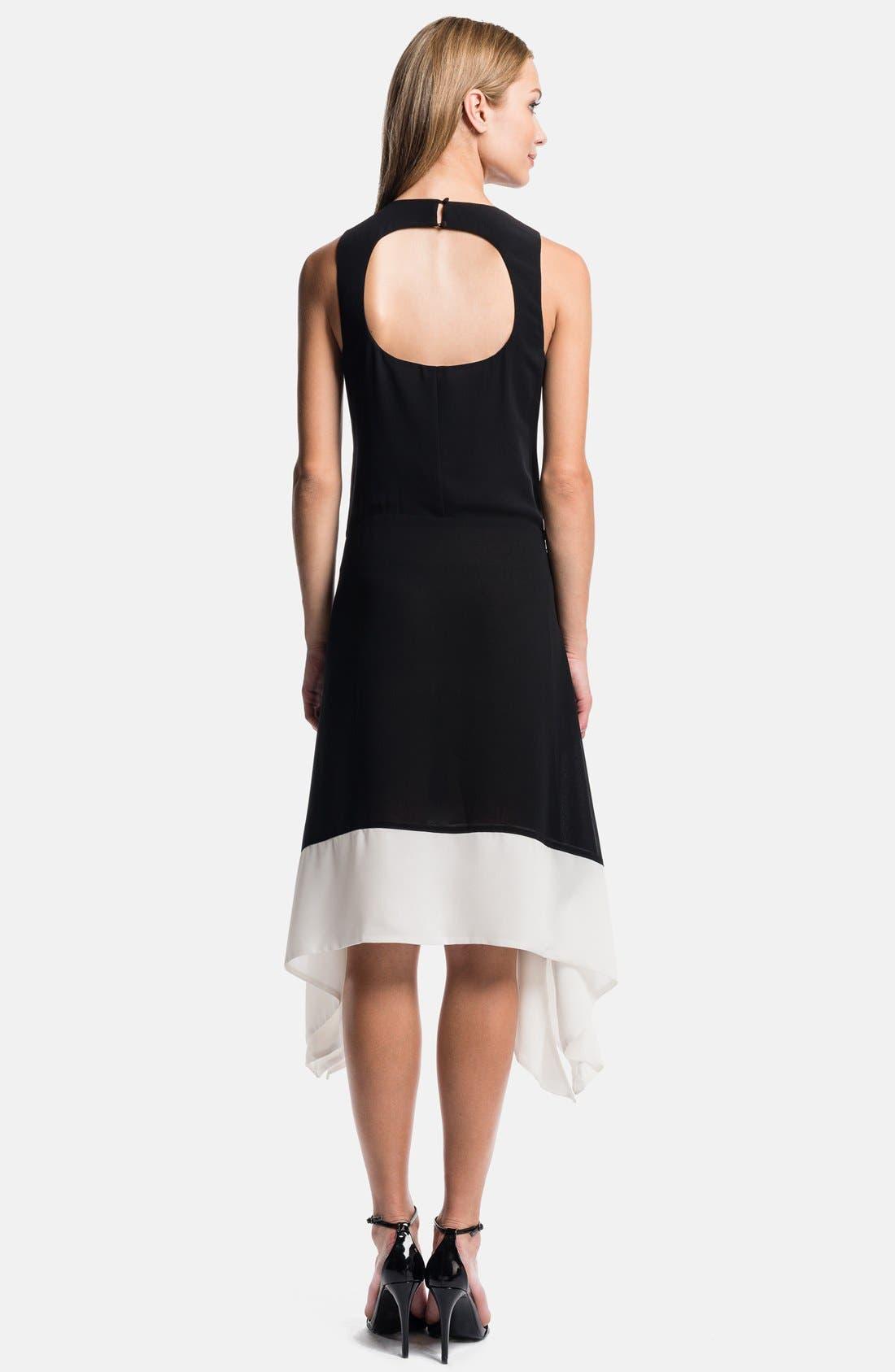 Alternate Image 2  - 1.STATE Handkerchief Hem Color Block Dress