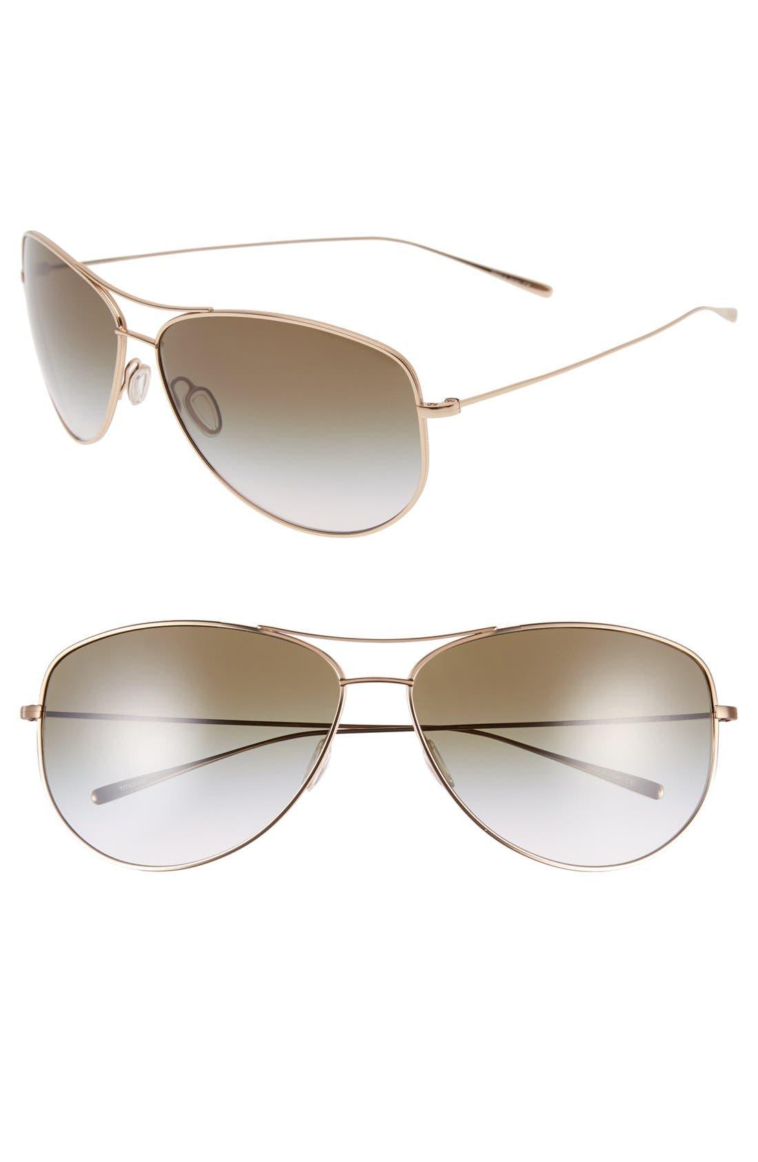 Alternate Image 1 Selected - Oliver Peoples 'Kempner' 65mm Aviator Sunglasses