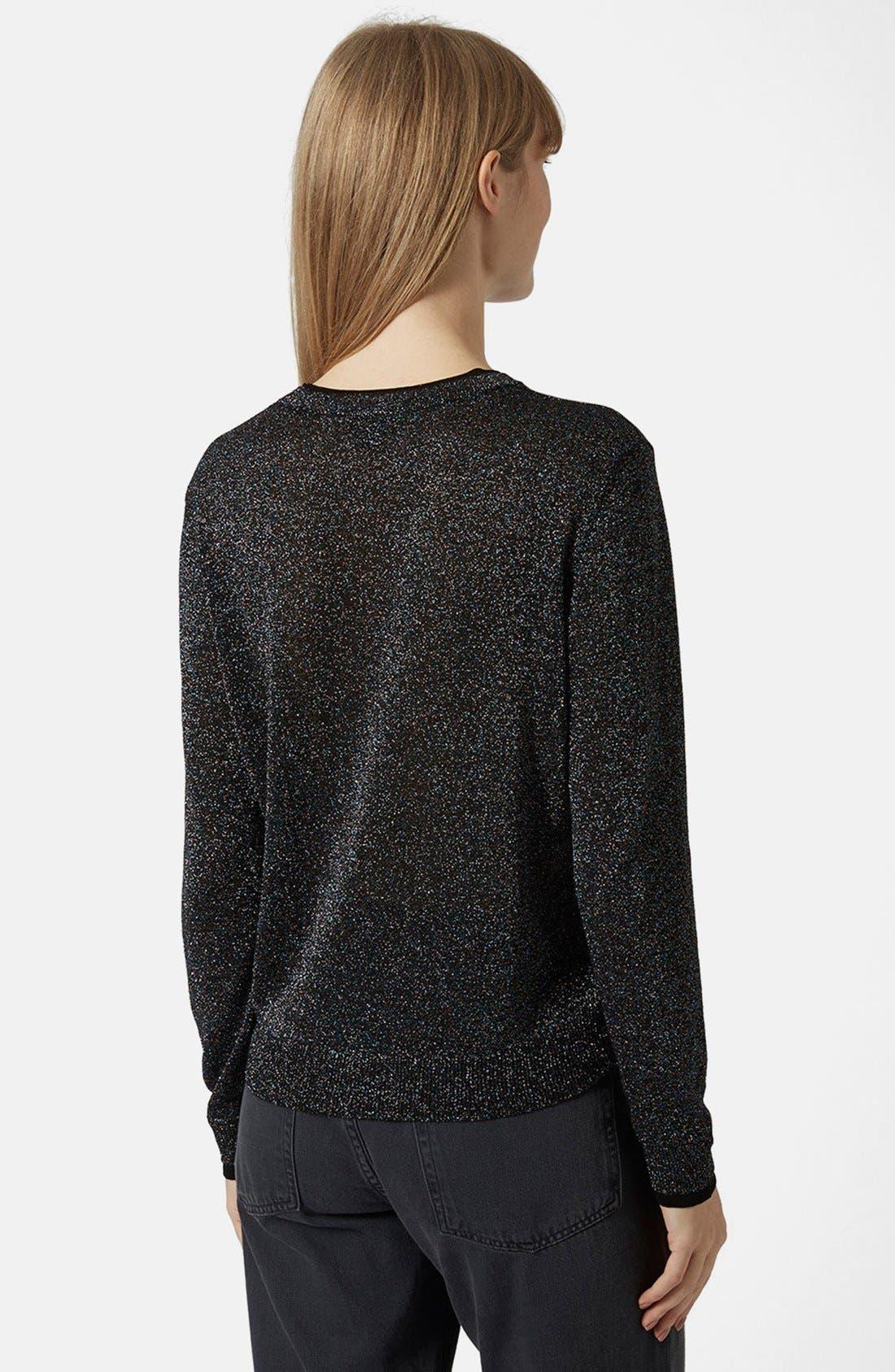 Alternate Image 2  - Topshop Metallic Fine Gauge Sweater