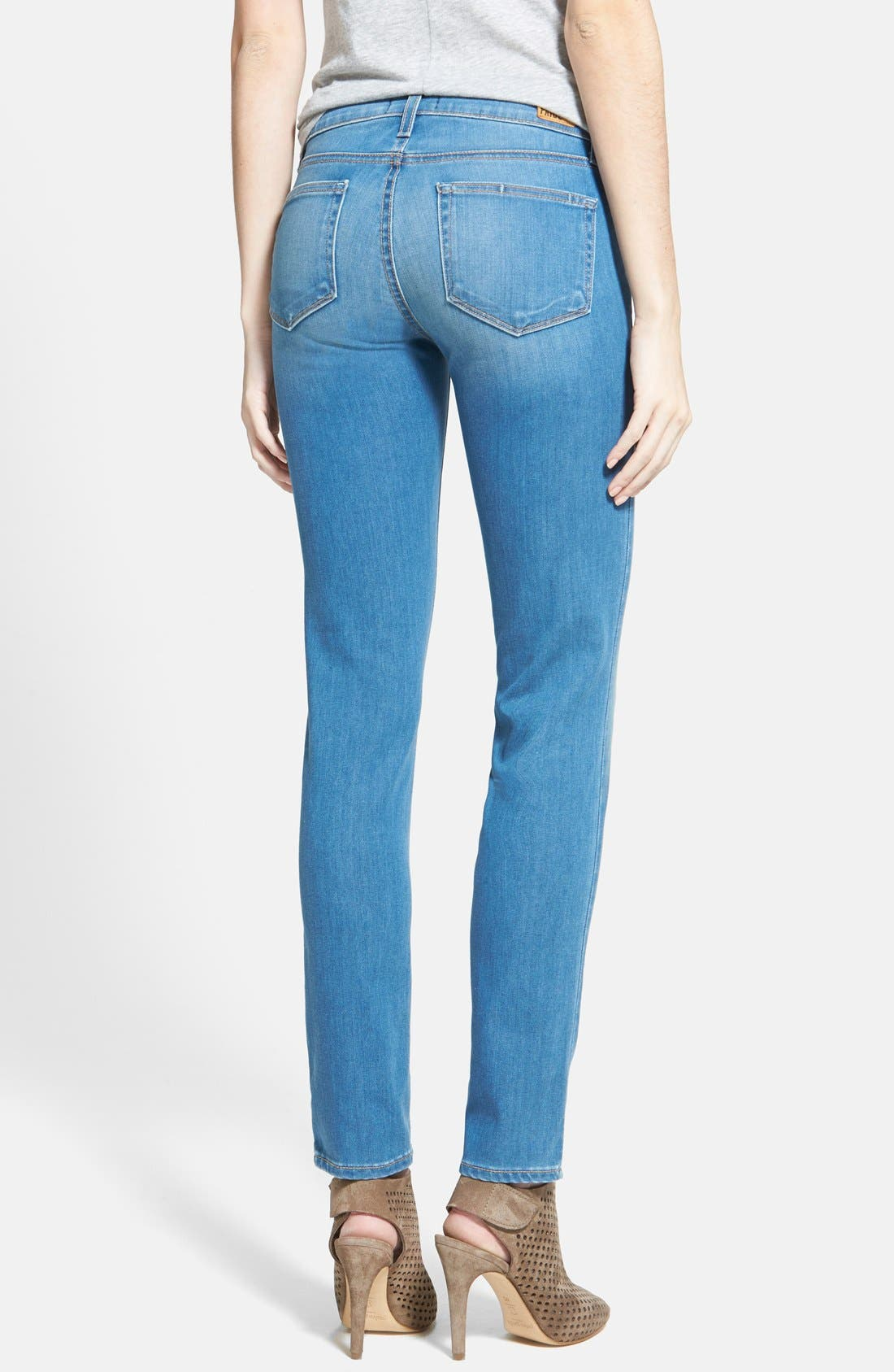Alternate Image 2  - Paige Denim 'Skyline' Skinny Jeans (Halstead Blue)