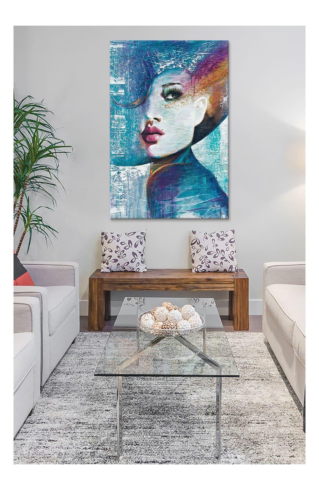 Alternate Image 2  - iCanvas 'Angie - Collin Staples' Giclée Print Canvas Art
