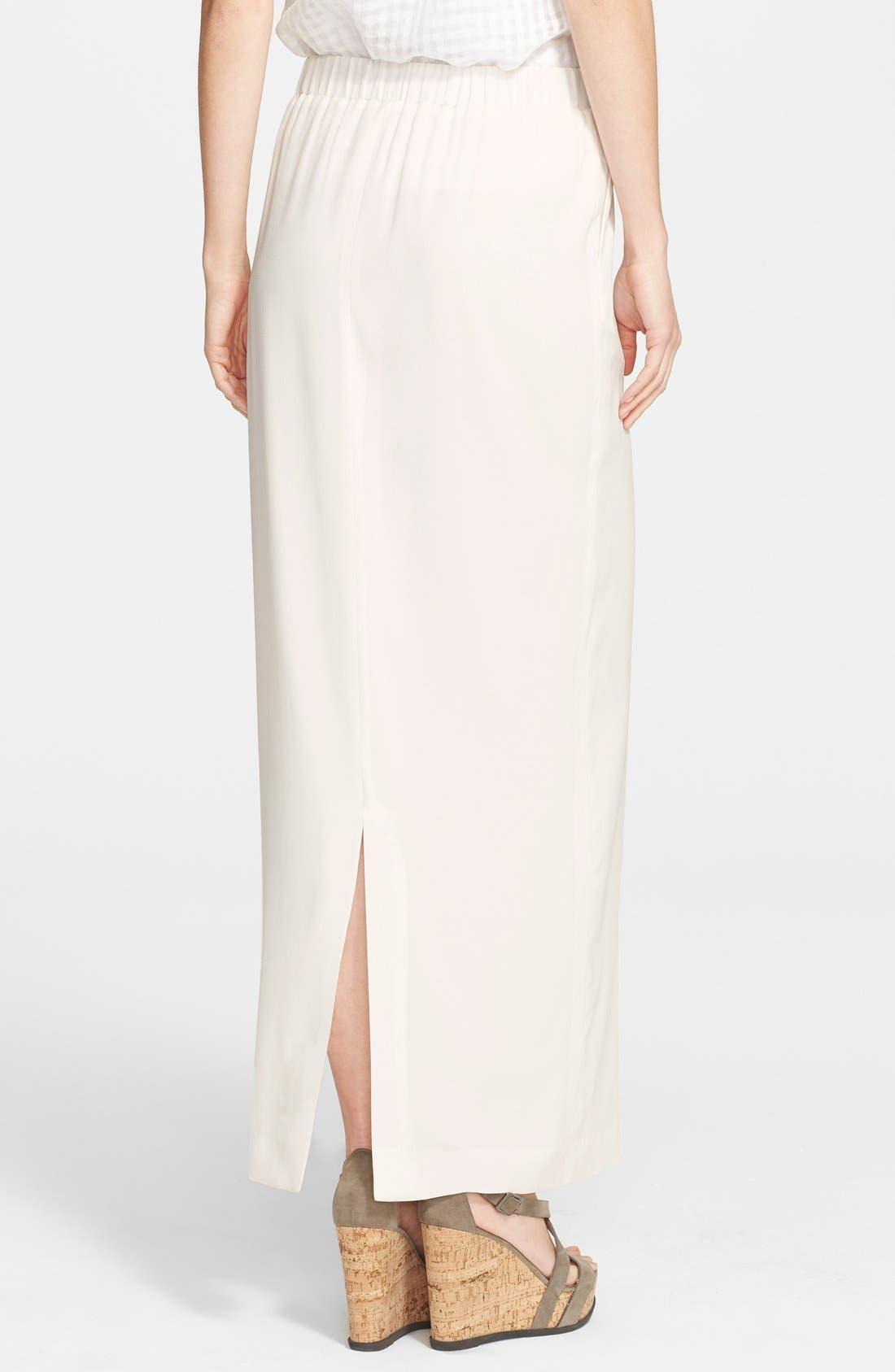 Alternate Image 2  - Fabiana Filippi Silk Maxi Skirt