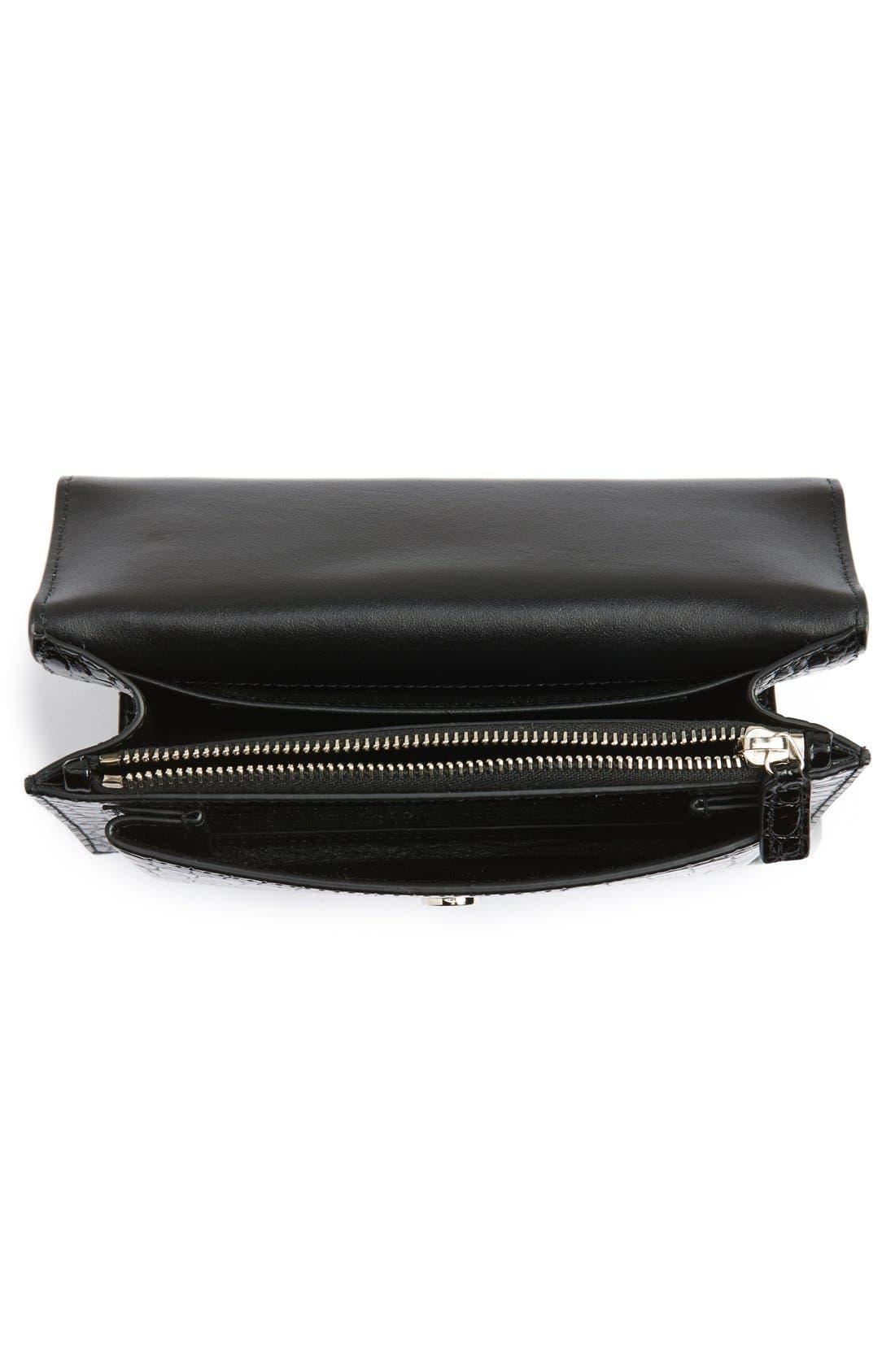 Alternate Image 4  - Saint Laurent Mini Monogram Sunset Croc Embossed Leather Shoulder Bag
