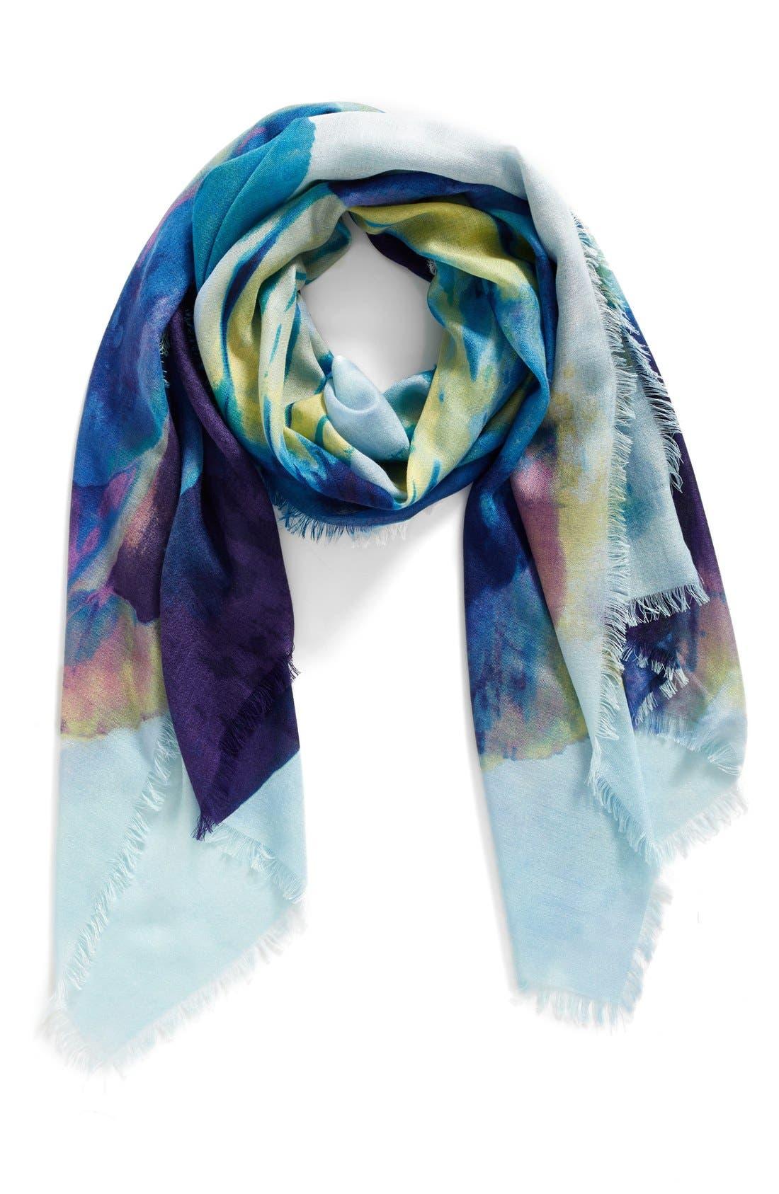 Nordstrom Solar Floral Cashmere & Silk Scarf