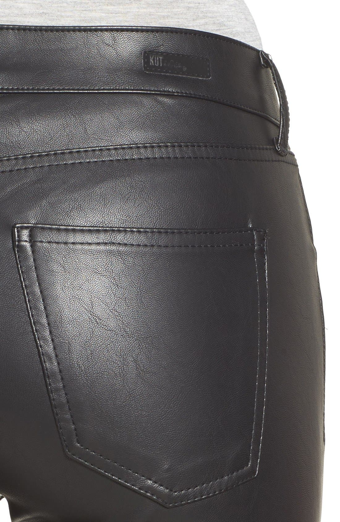 Alternate Image 4  - KUT from the Kloth Brigitte Faux Leather Pants