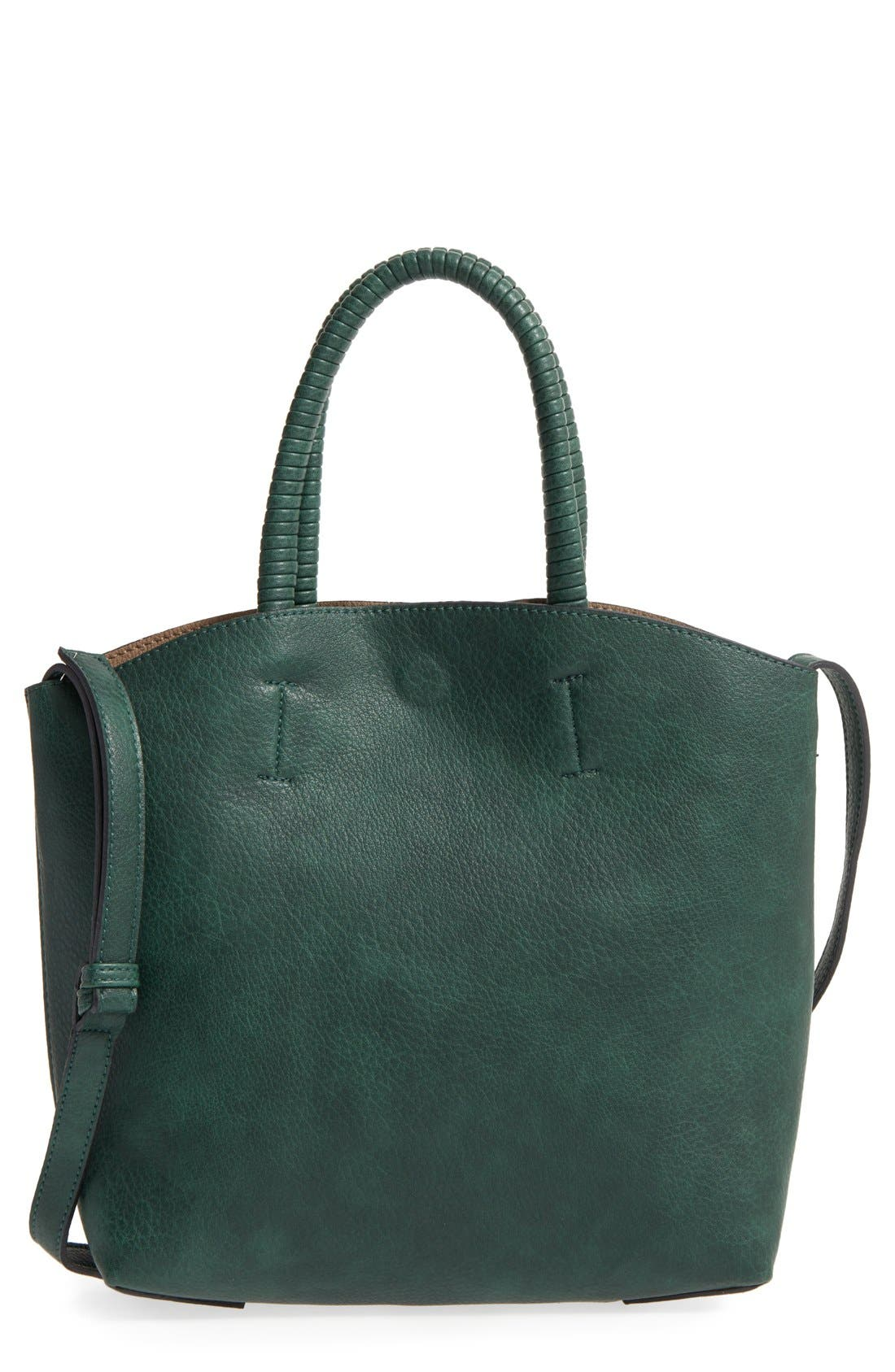 Alternate Image 1 Selected - Street Level Faux Leather Dome Tote