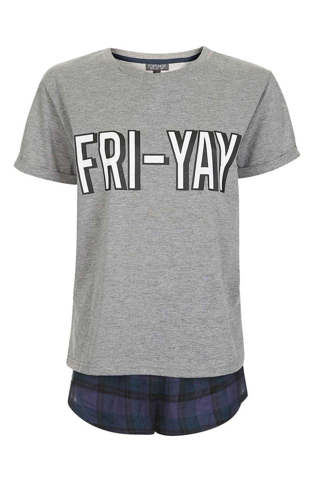 Alternate Image 4  - Topshop Fri-Yay Pajamas