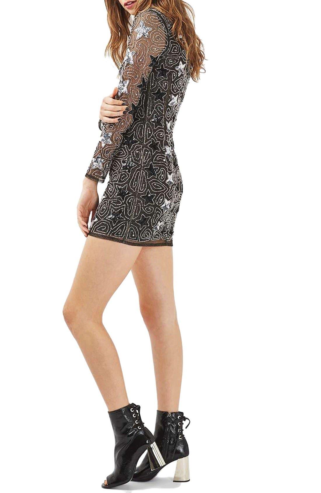 Alternate Image 3  - Topshop Star Embellished Minidress