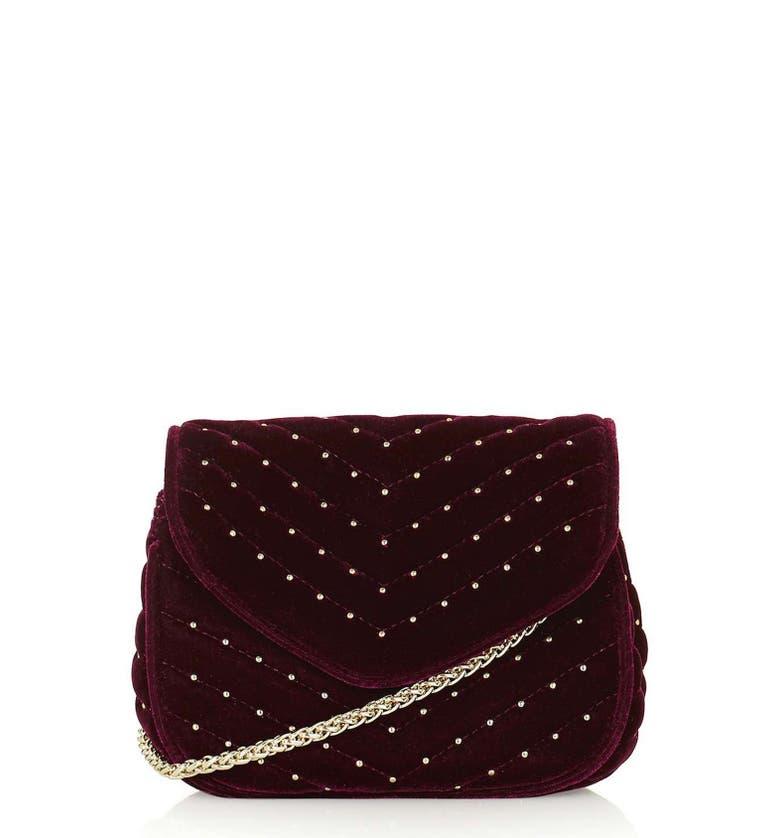 Topshop Embellished Velvet Crossbody Bag Nordstrom