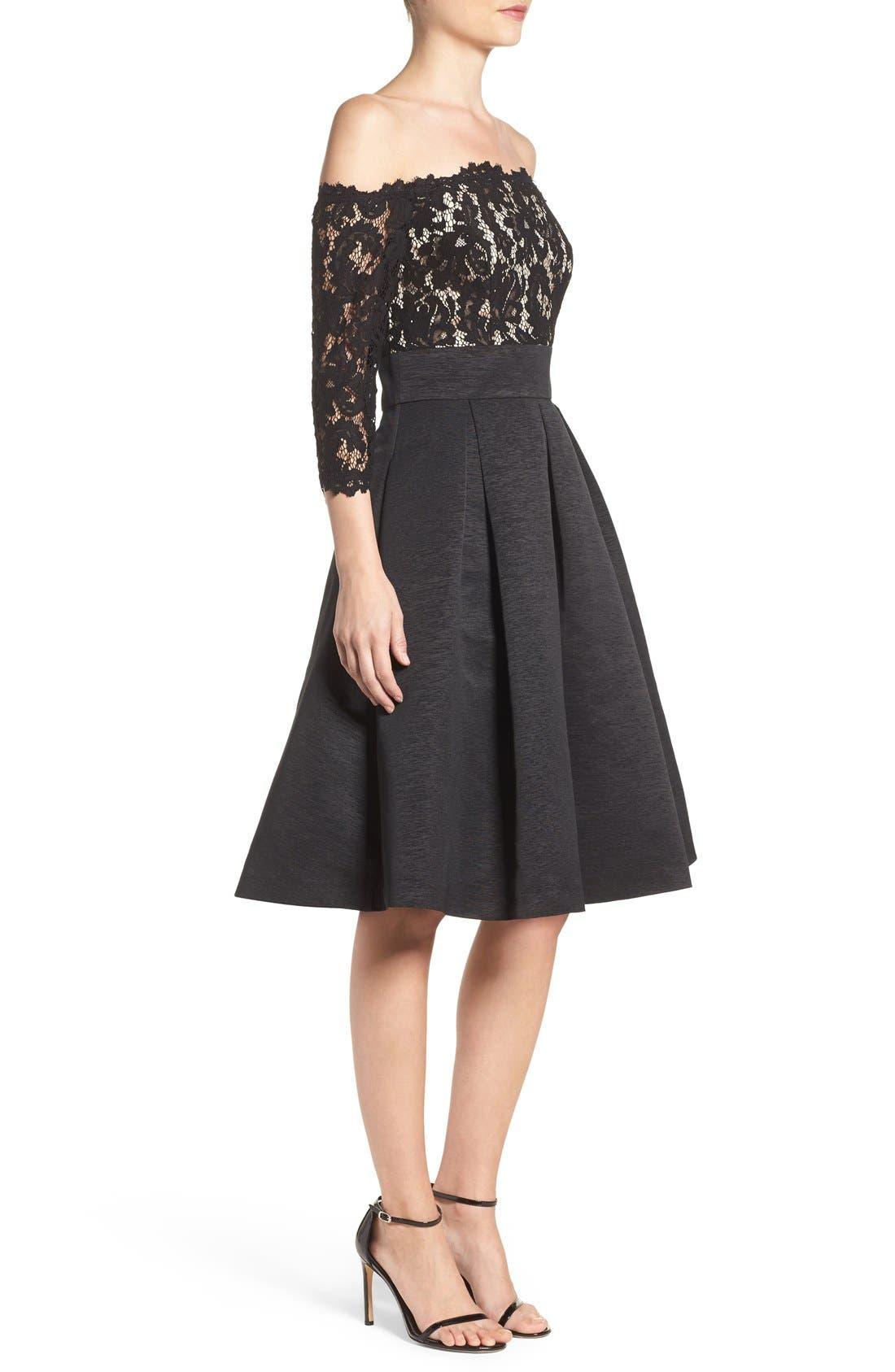 Alternate Image 3  - Eliza J Off the Shoulder A-Line Dress (Regular & Petite)