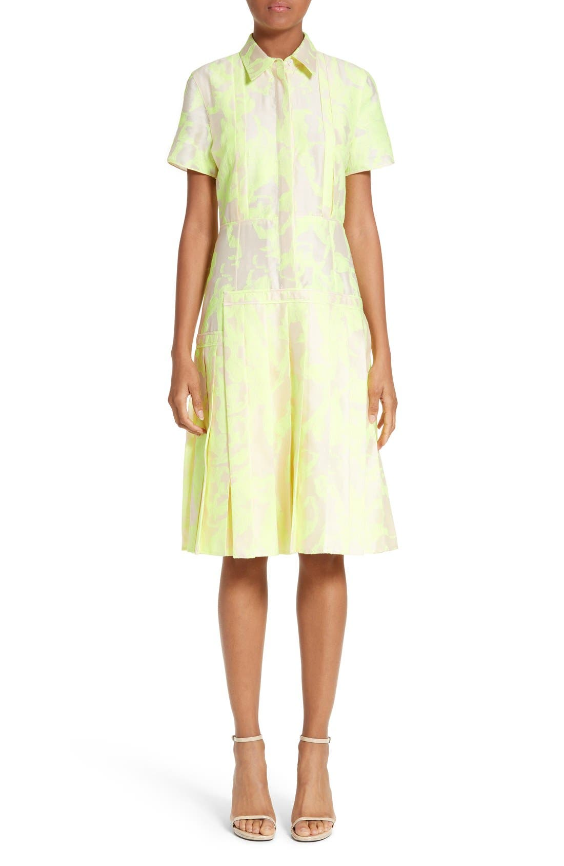 JASON WU Pleated Fil Coupé Shirtdress
