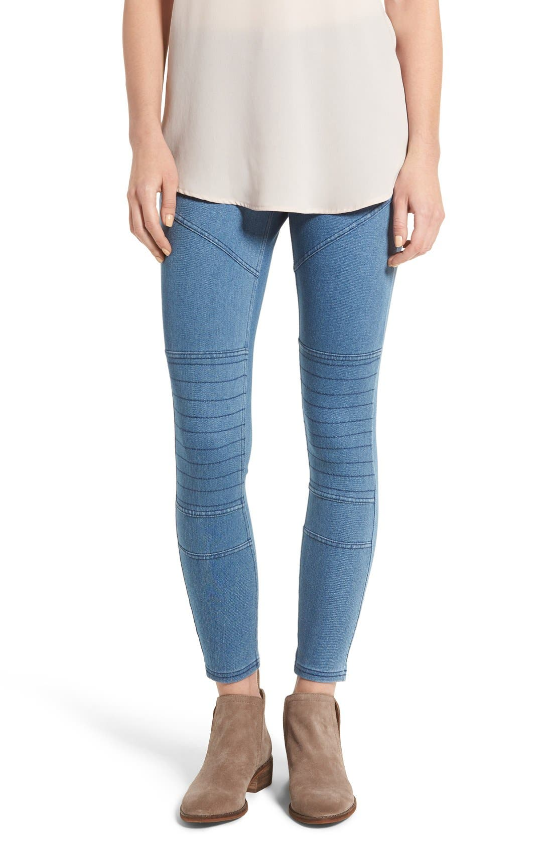 Hue Moto Denim Leggings