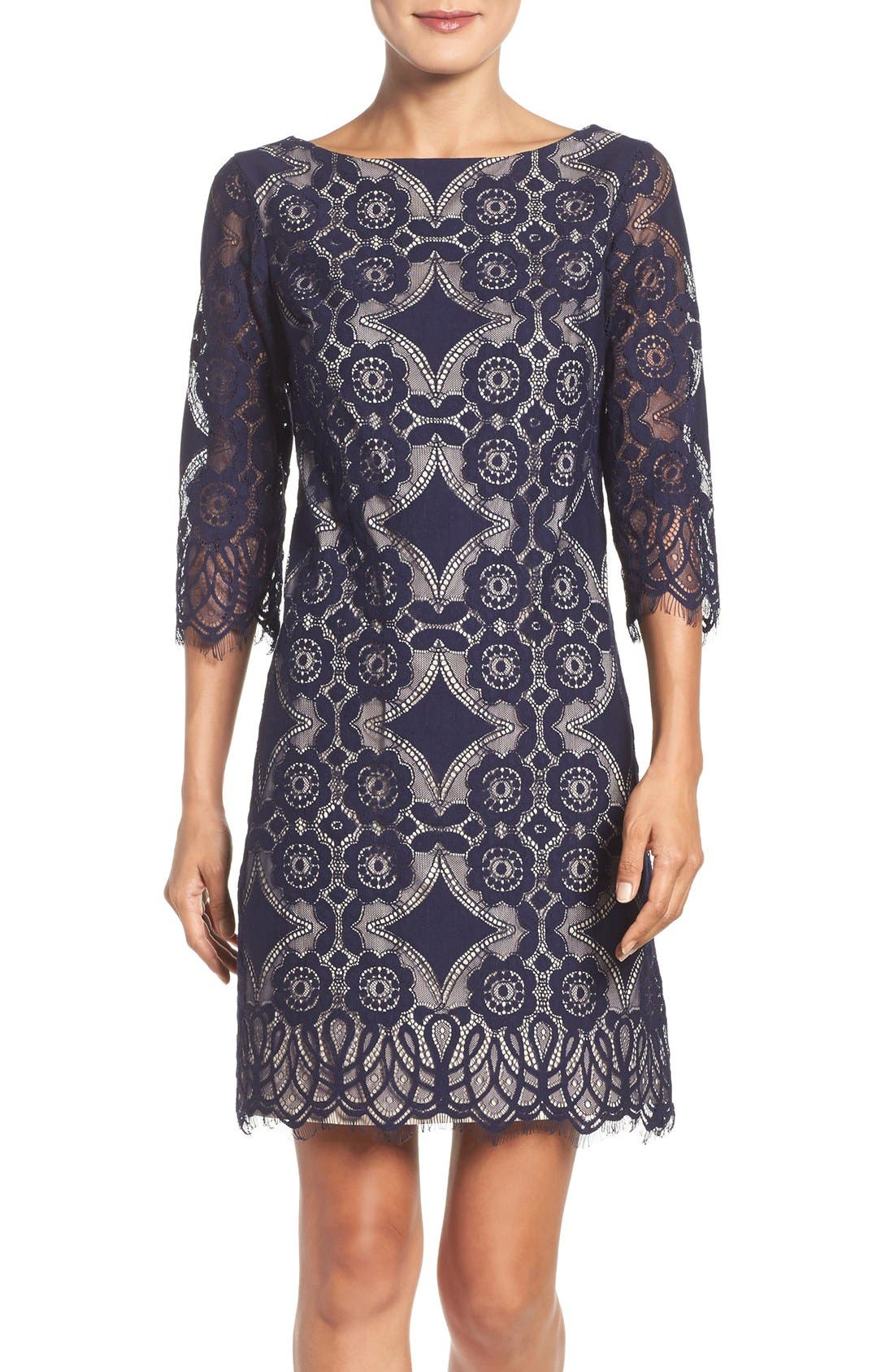 ELIZA J Lace A-Line Dress