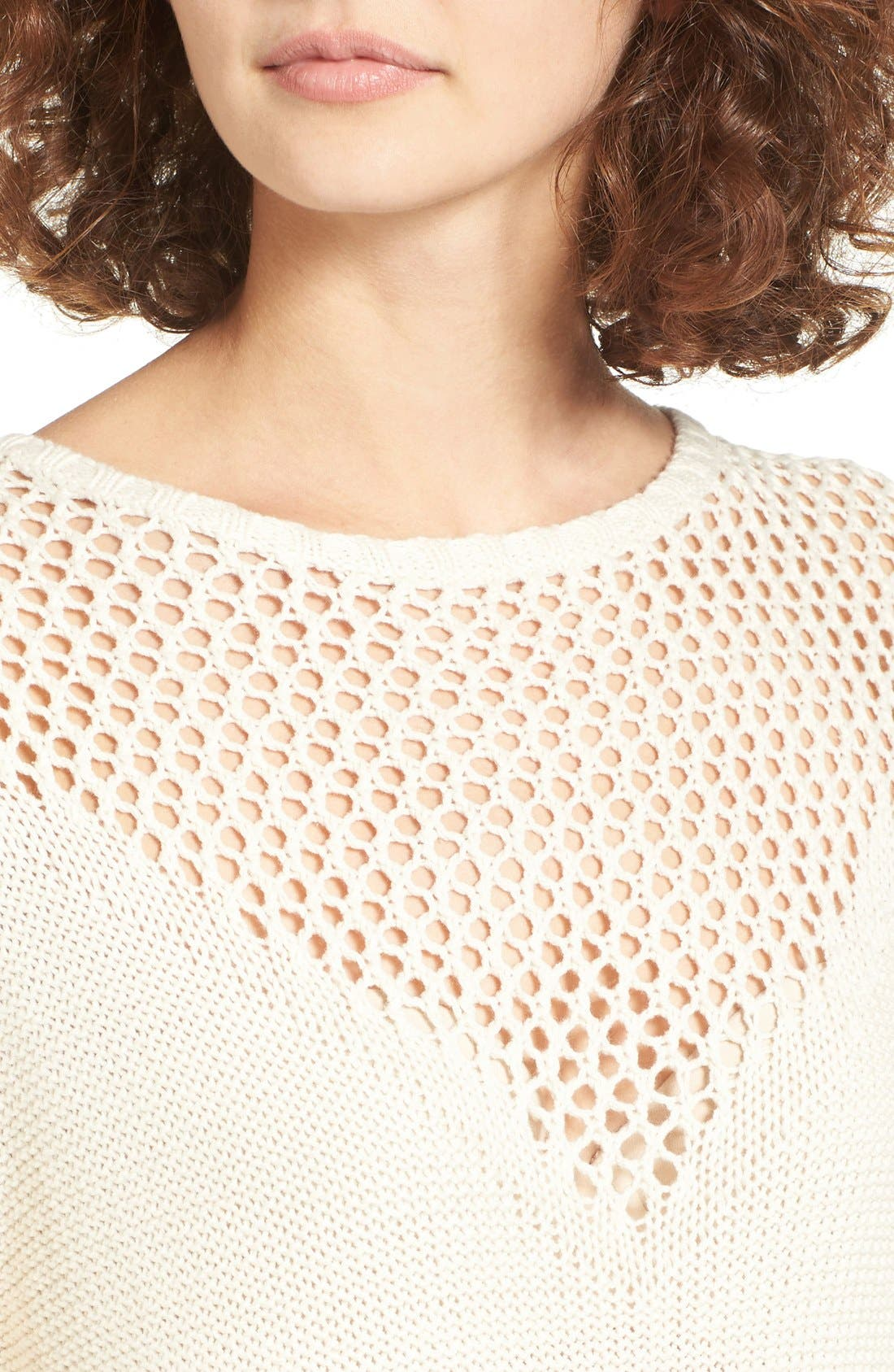 Alternate Image 4  - Roxy Borrowed Time Open Knit Sweater Dress