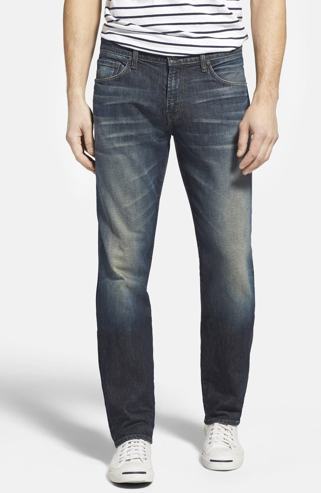 Alternate Image 1 Selected - J Brand 'Kane' Slim Straight Leg Jeans (Bronson)
