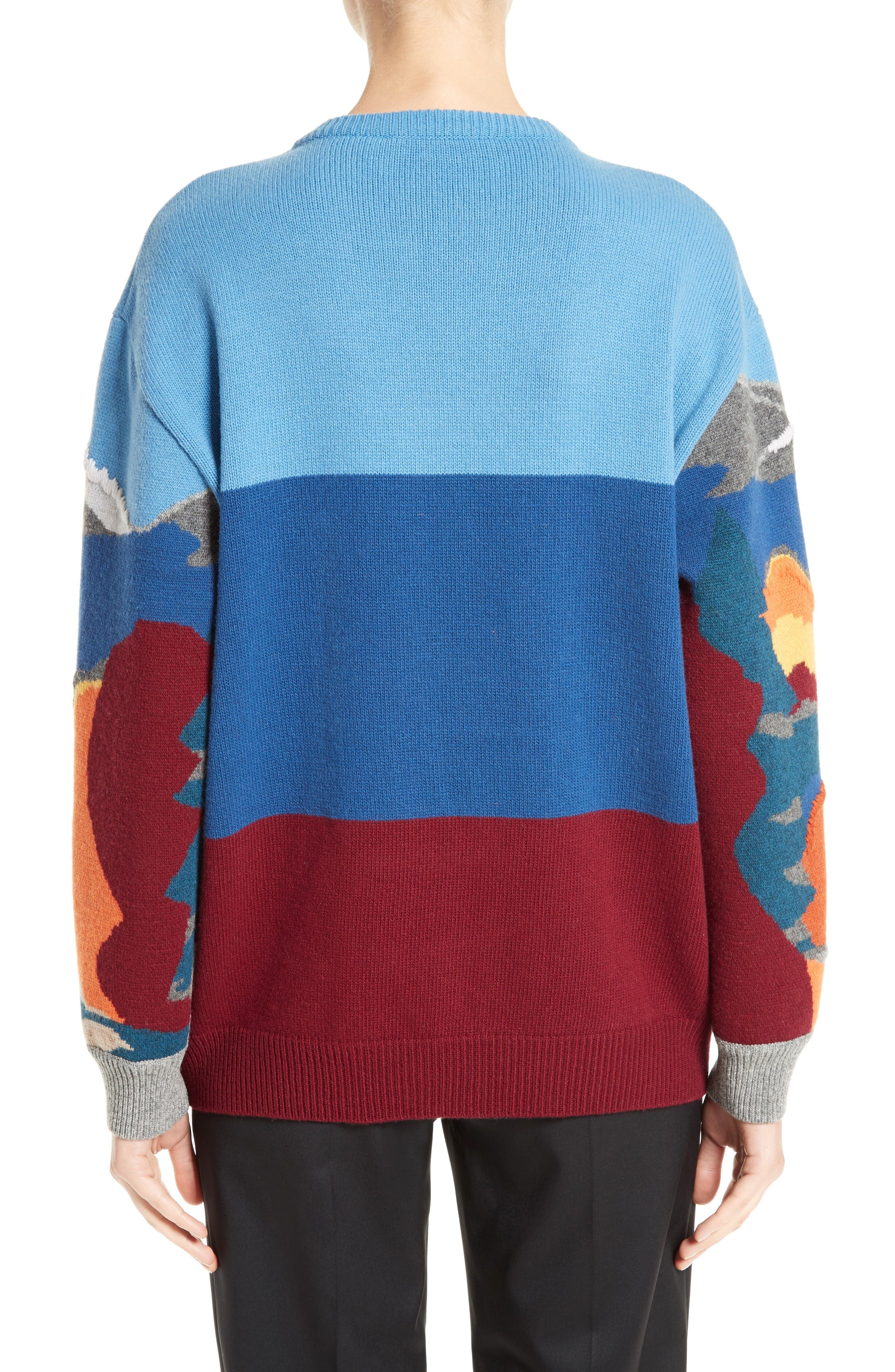 Alternate Image 2  - Stella McCartney 'Landscape' Intarsia Knit Wool Sweater