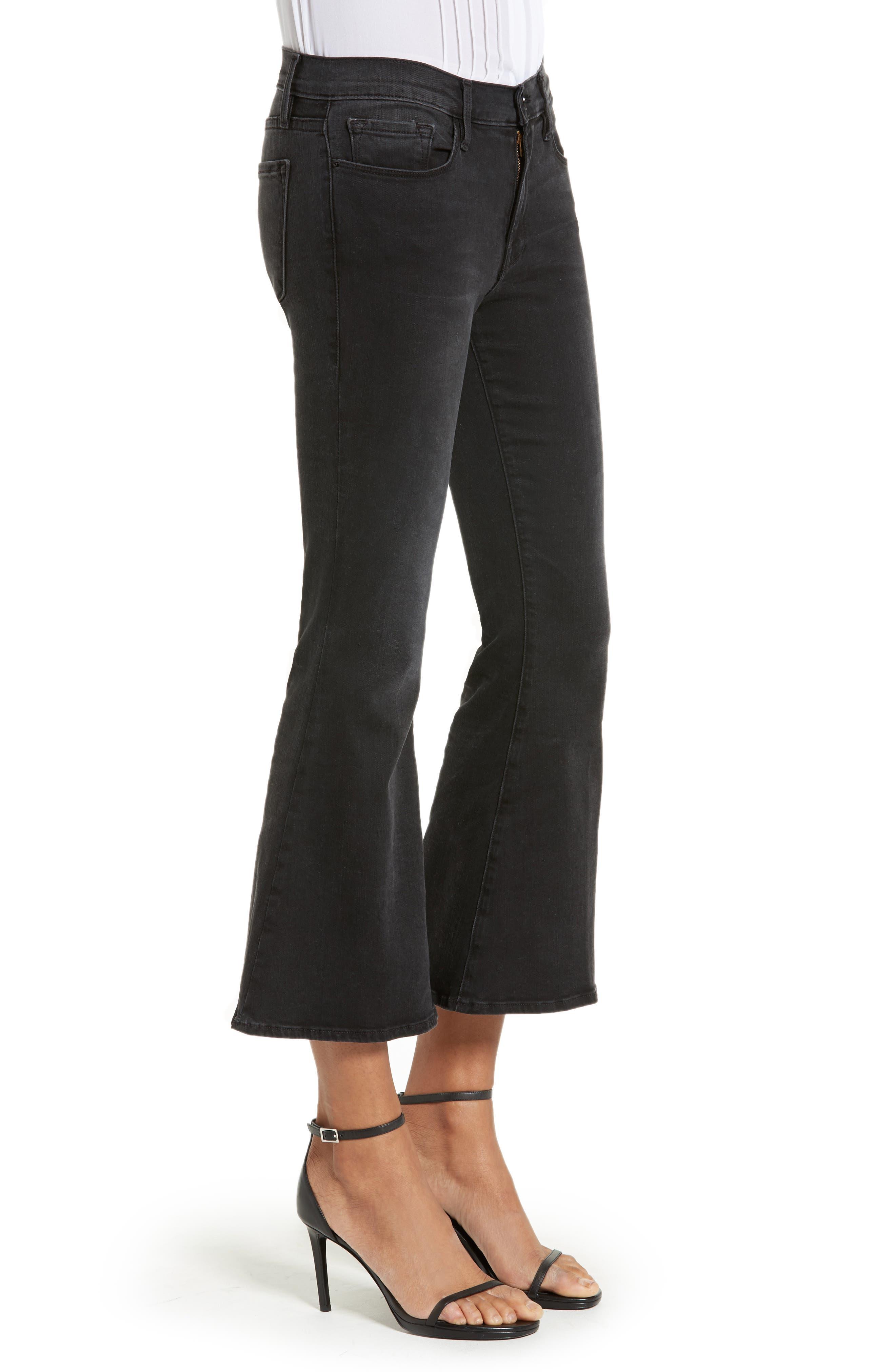 Alternate Image 3  - FRAME Le Crop Bell High Waist Crop Jeans (Whittier)