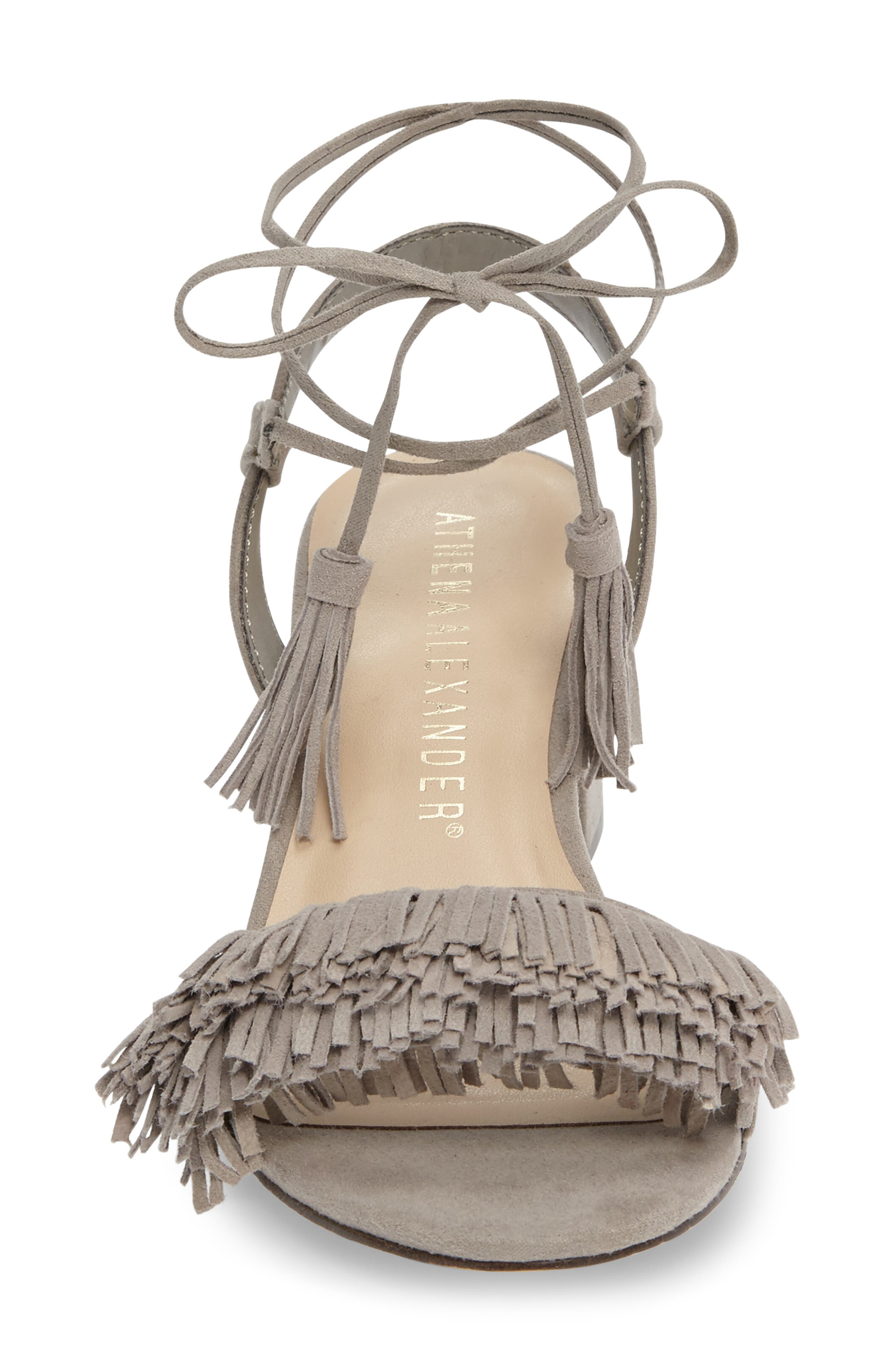 Alternate Image 3  - Athena Alexander Fringed Ankle Wrap Sandal (Women)