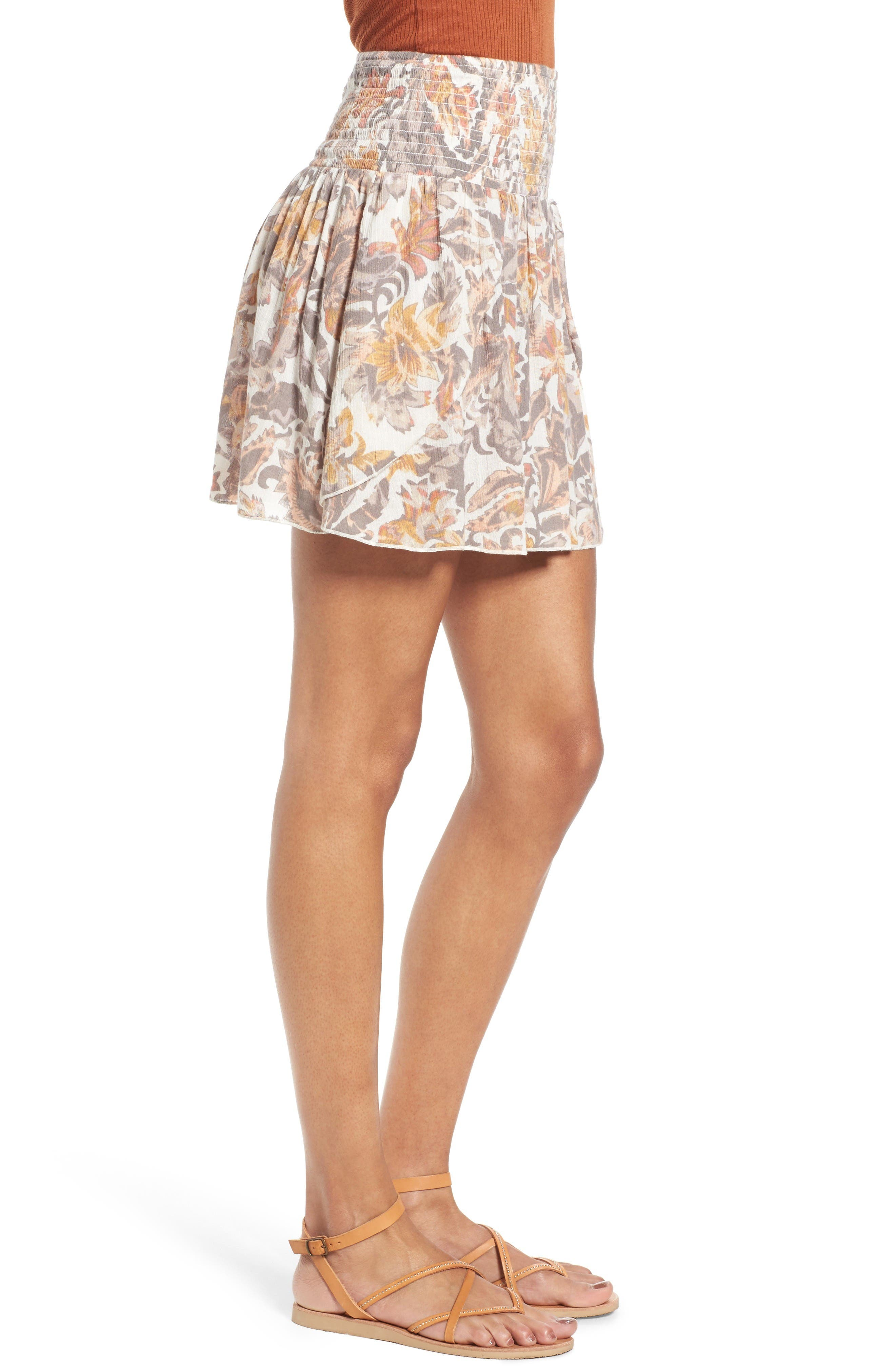 Alternate Image 3  - Sun & Shadow Print Smocked Waist Skirt