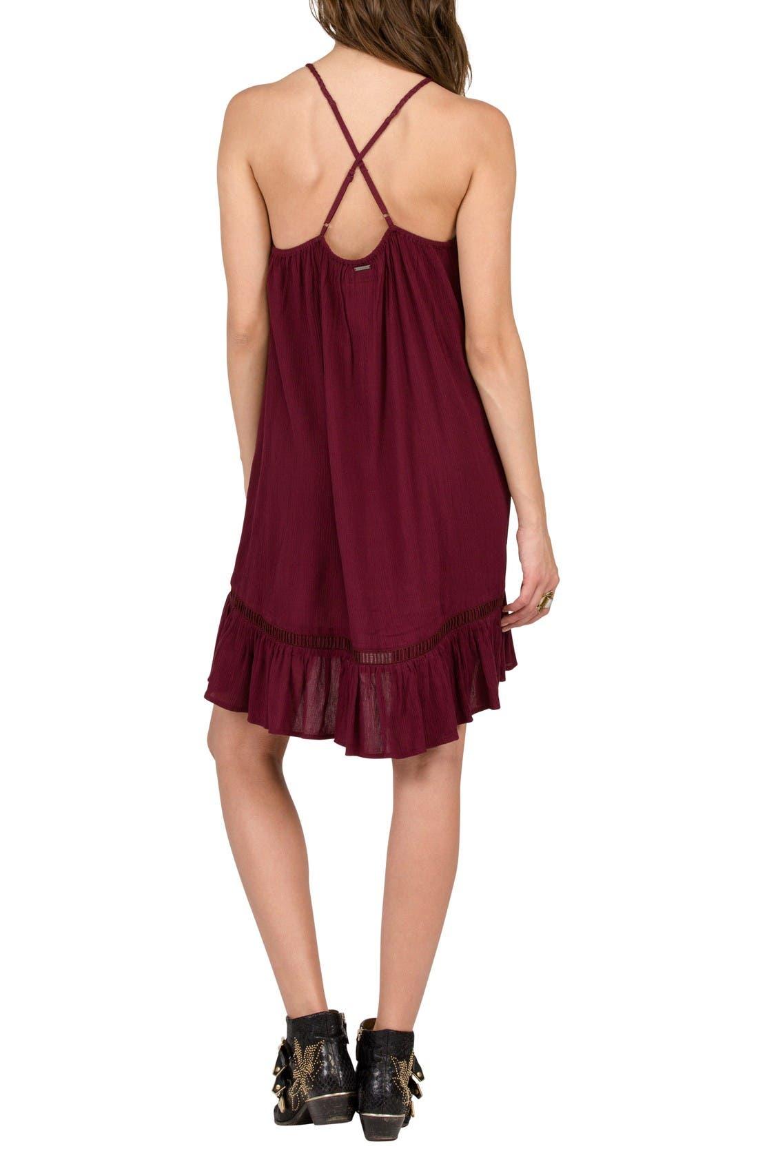Alternate Image 2  - Volcom Not Over It Crochet Swing Dress