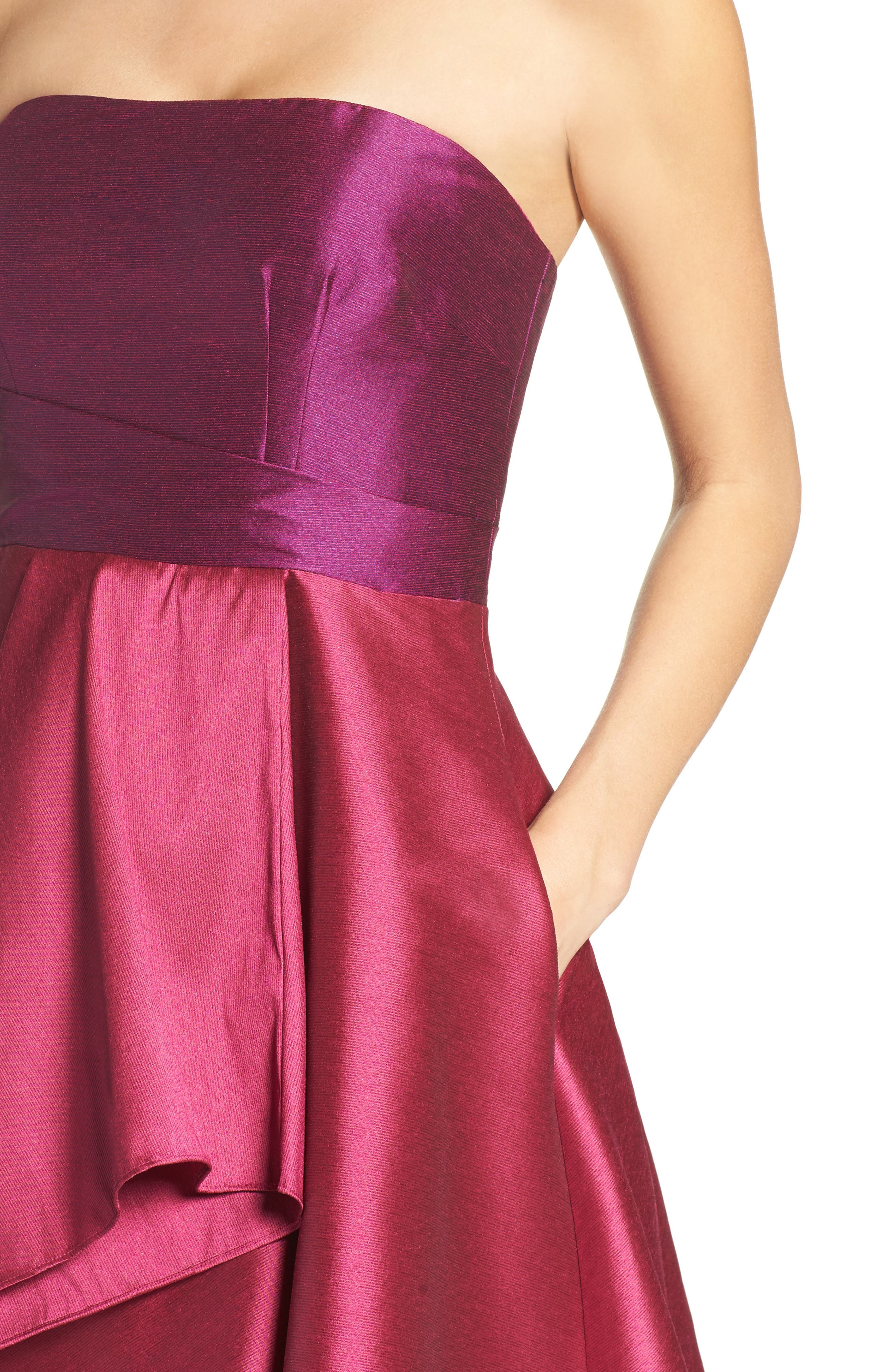 Alternate Image 4  - Adrianna Papell Colorblock Strapless Gown