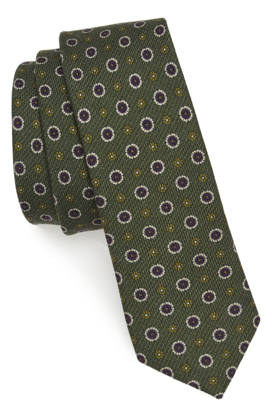 THE TIE BAR Floral Medallion Wool Tie