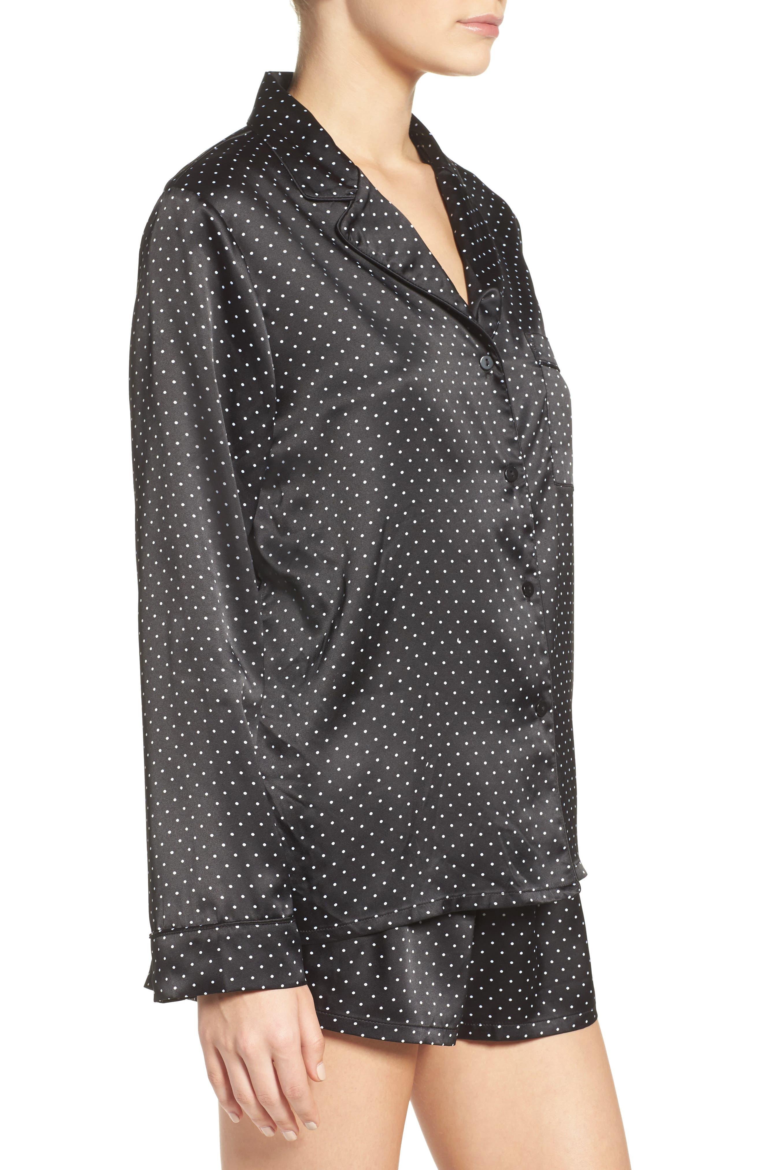 Alternate Image 3  - In Bloom by Jonquil Print Satin Pajamas