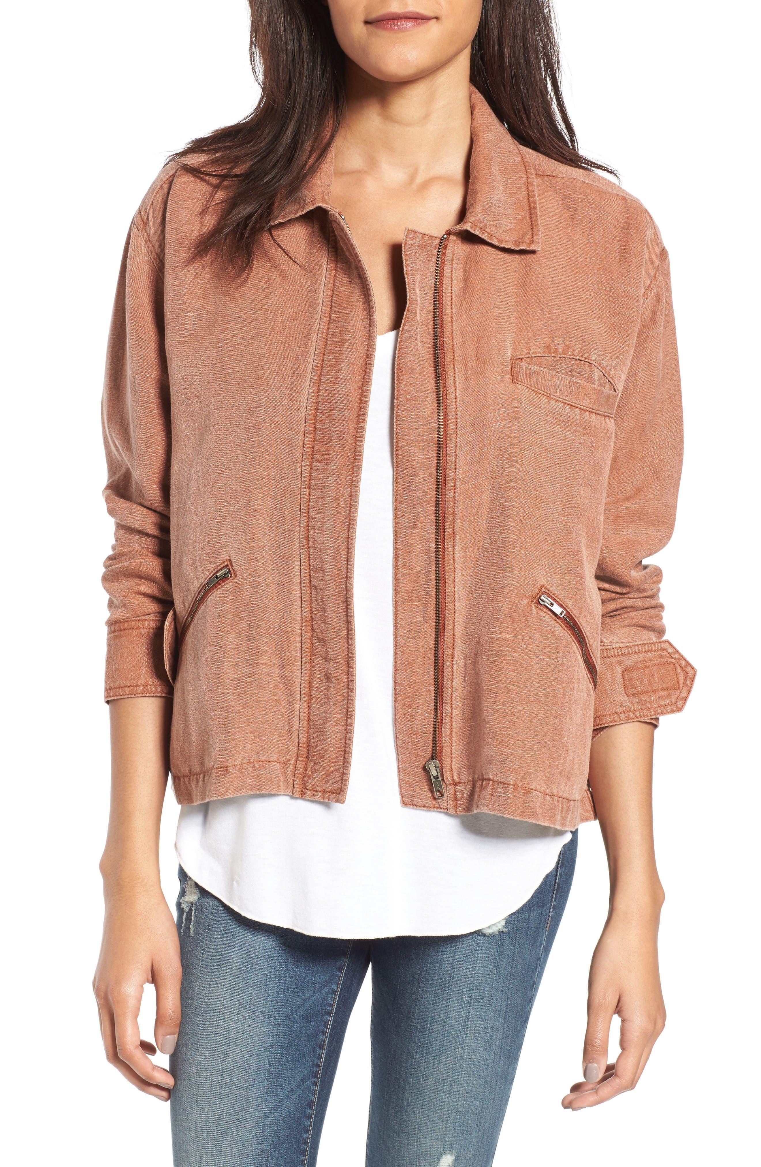 Main Image - BP. Washed Linen Blend Jacket