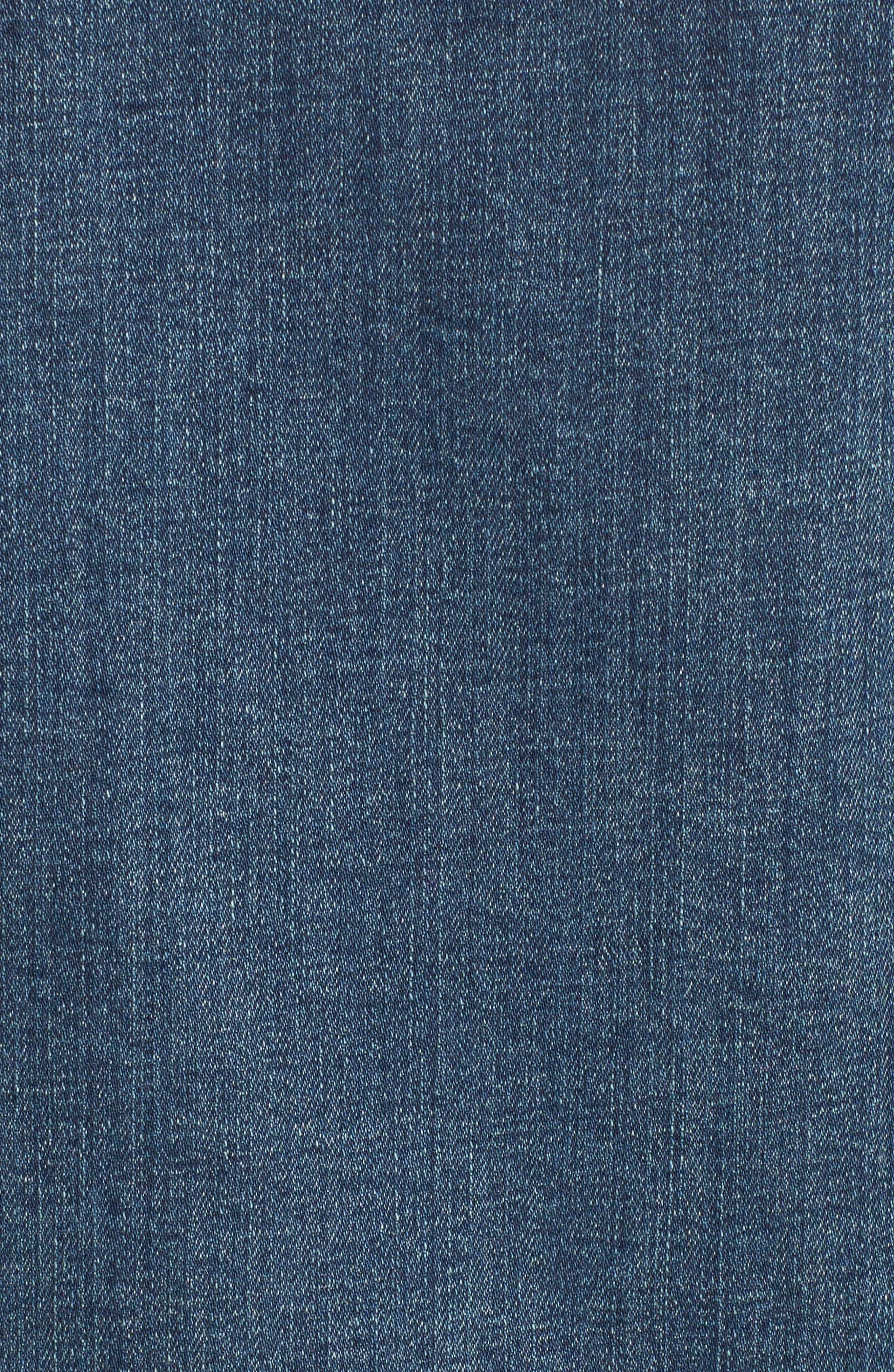 Alternate Image 5  - BP. Faux Shearling Collar Denim Jacket