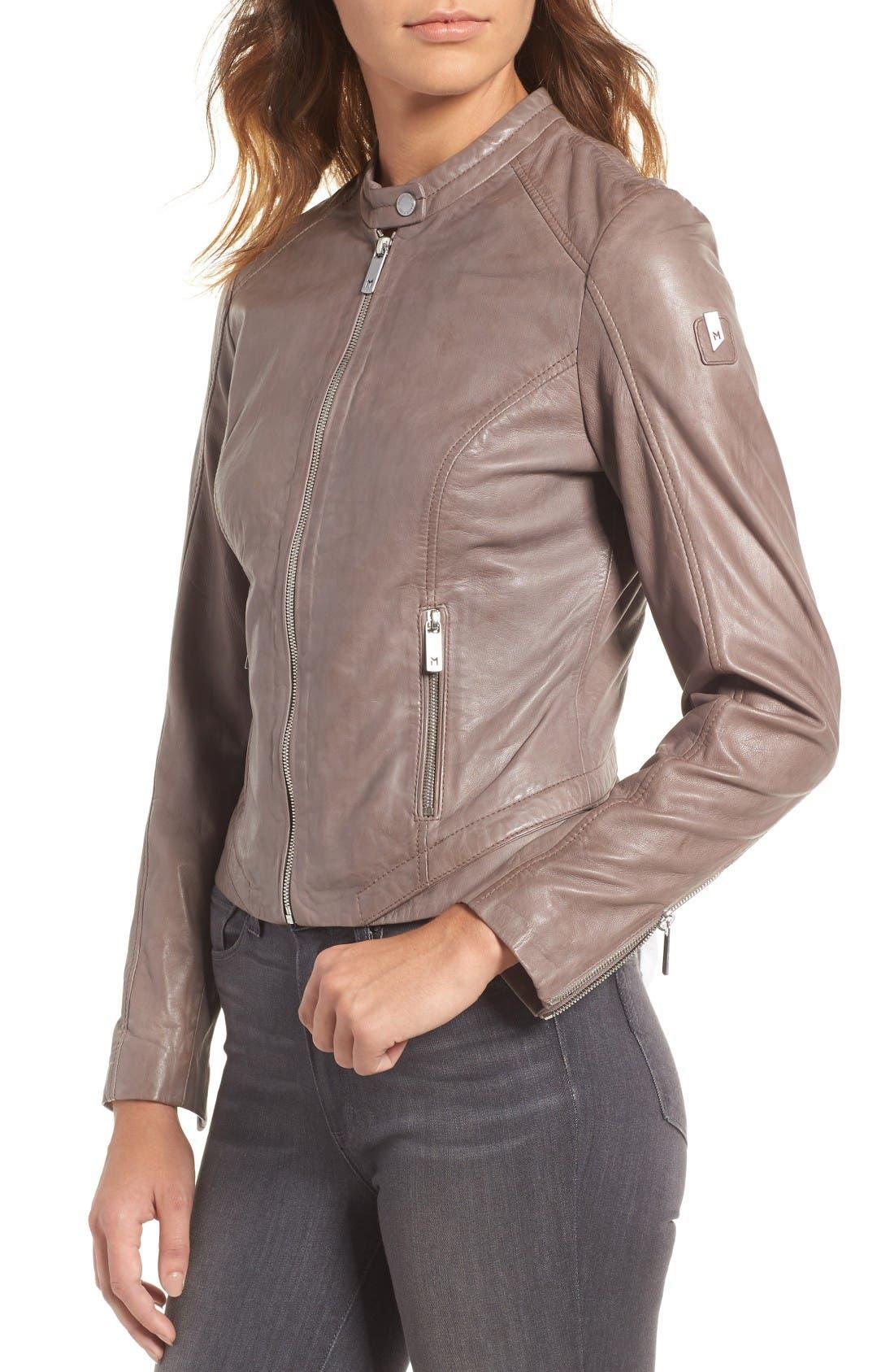 Alternate Image 4  - Mauritius Leather Lambskin Leather Moto Jacket