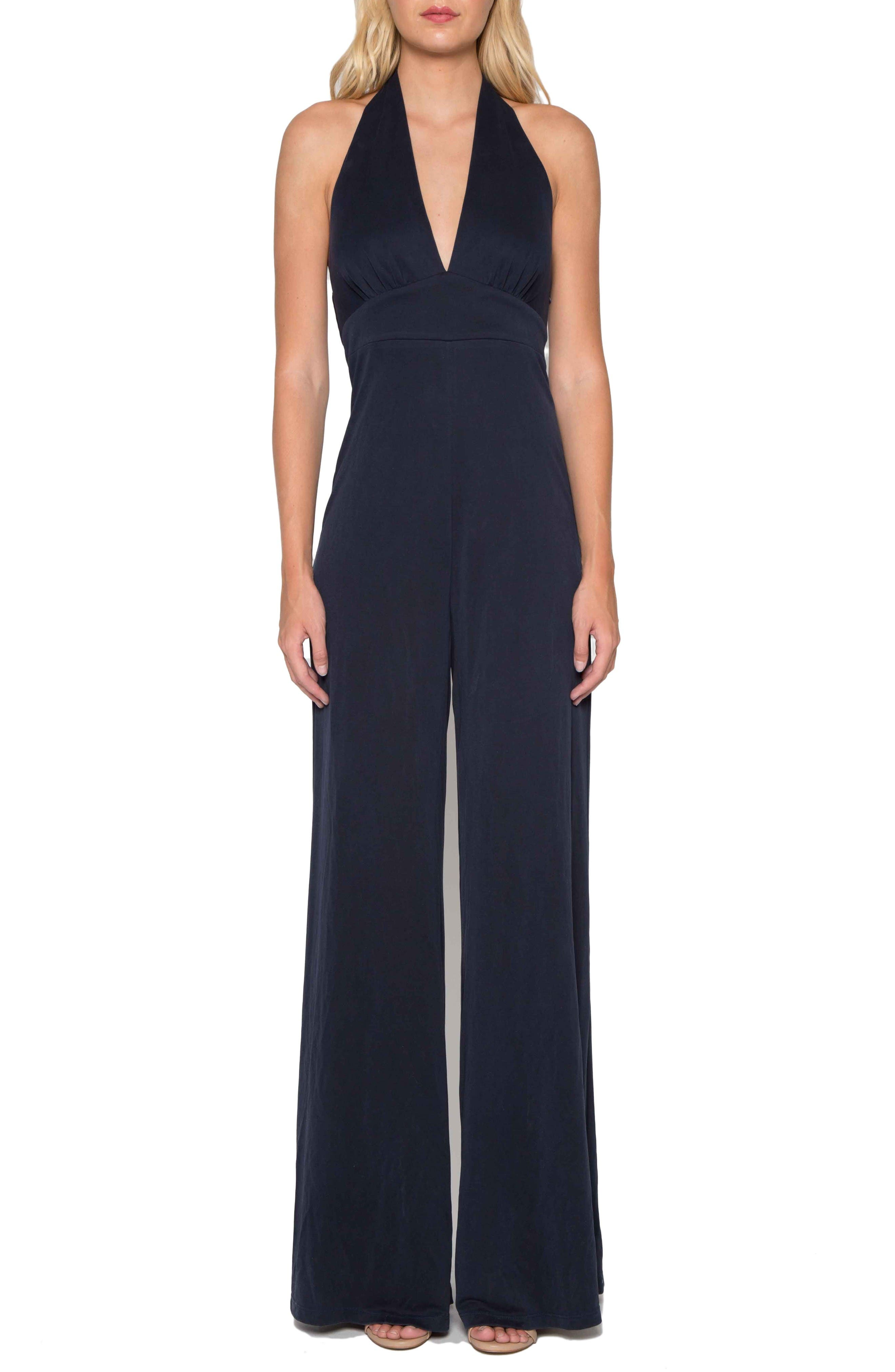 Alternate Image 1 Selected - Willow & Clay Jersey Halter Jumpsuit