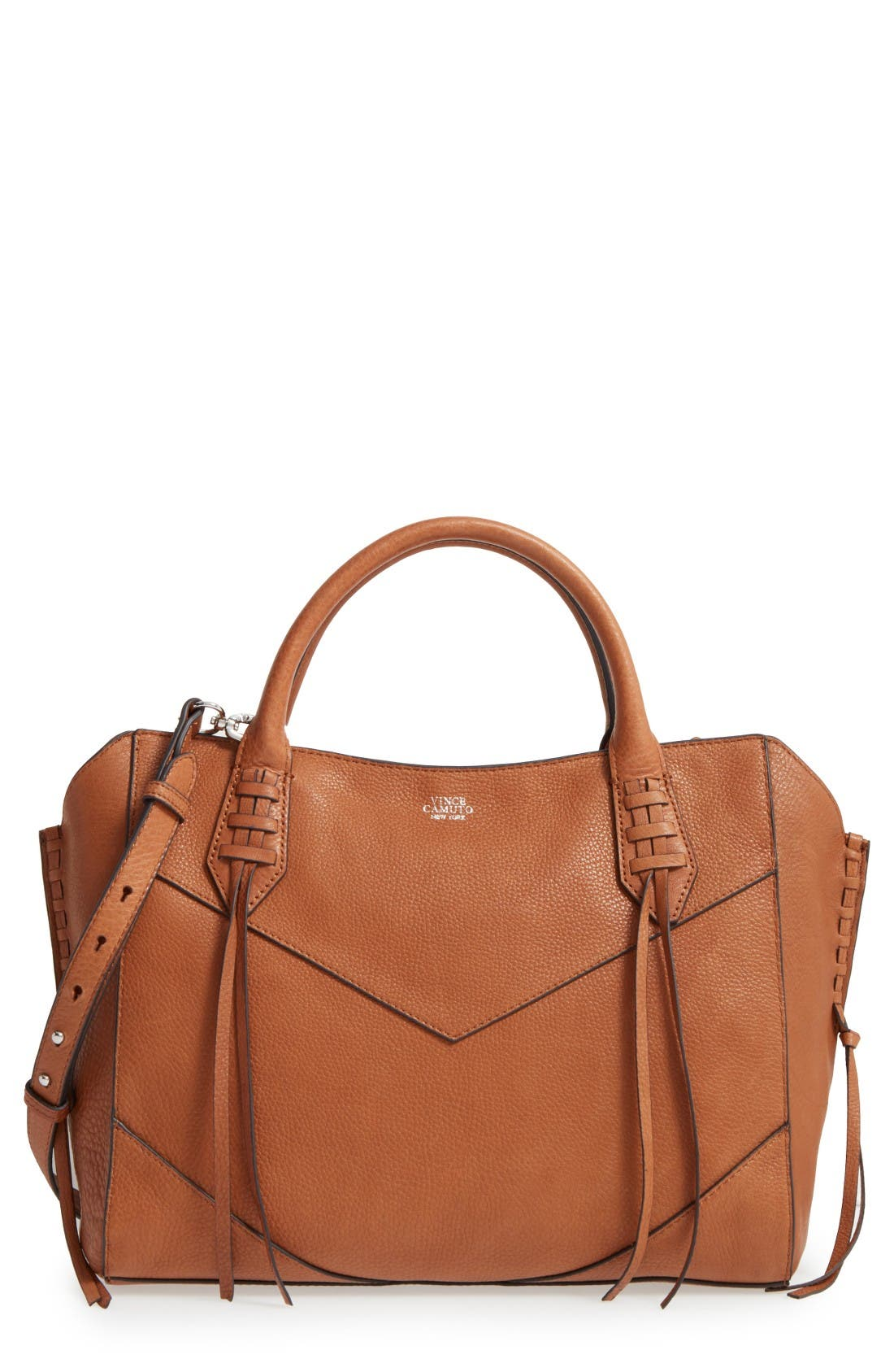 Alternate Image 1 Selected - Vince Camuto Fargo Leather Satchel