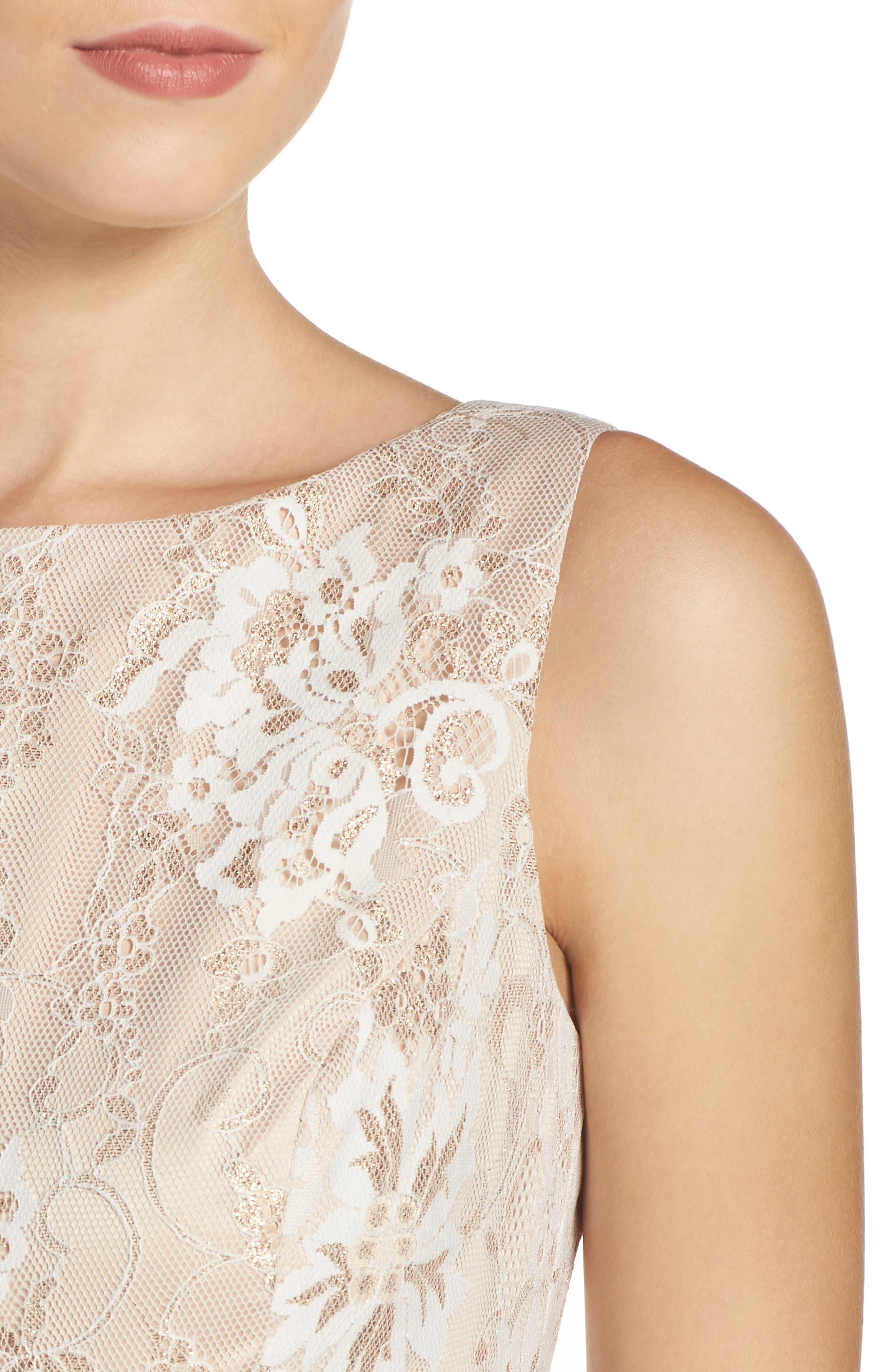 Alternate Image 5  - Eliza J Belted Lace Fit & Flare Dress