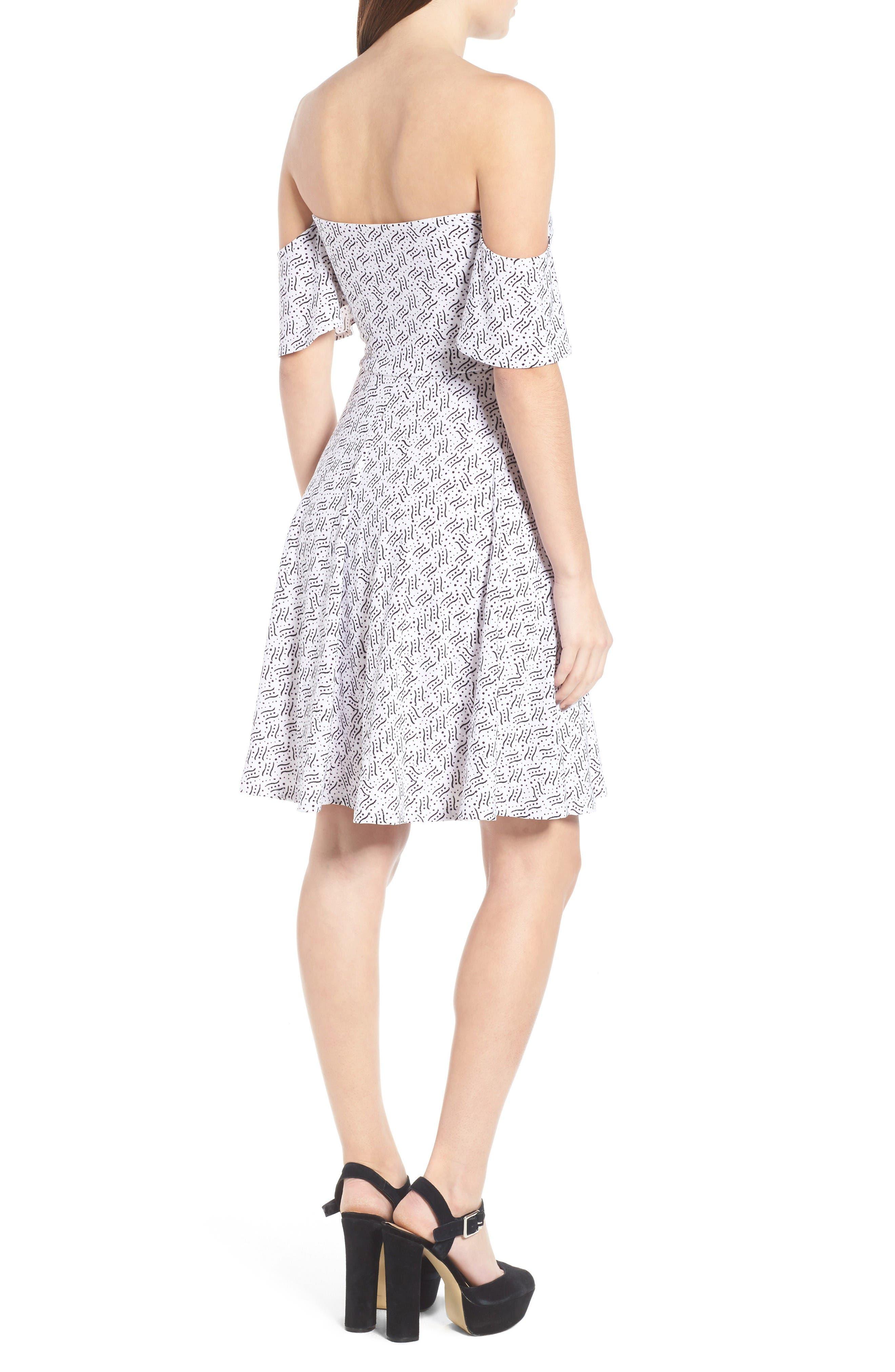 Alternate Image 2  - Leith Off the Shoulder Fit & Flare Dress