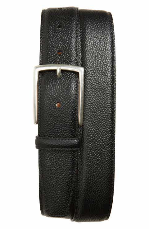 Allen Edmonds Decatur Avenue Pebbled Leather Belt