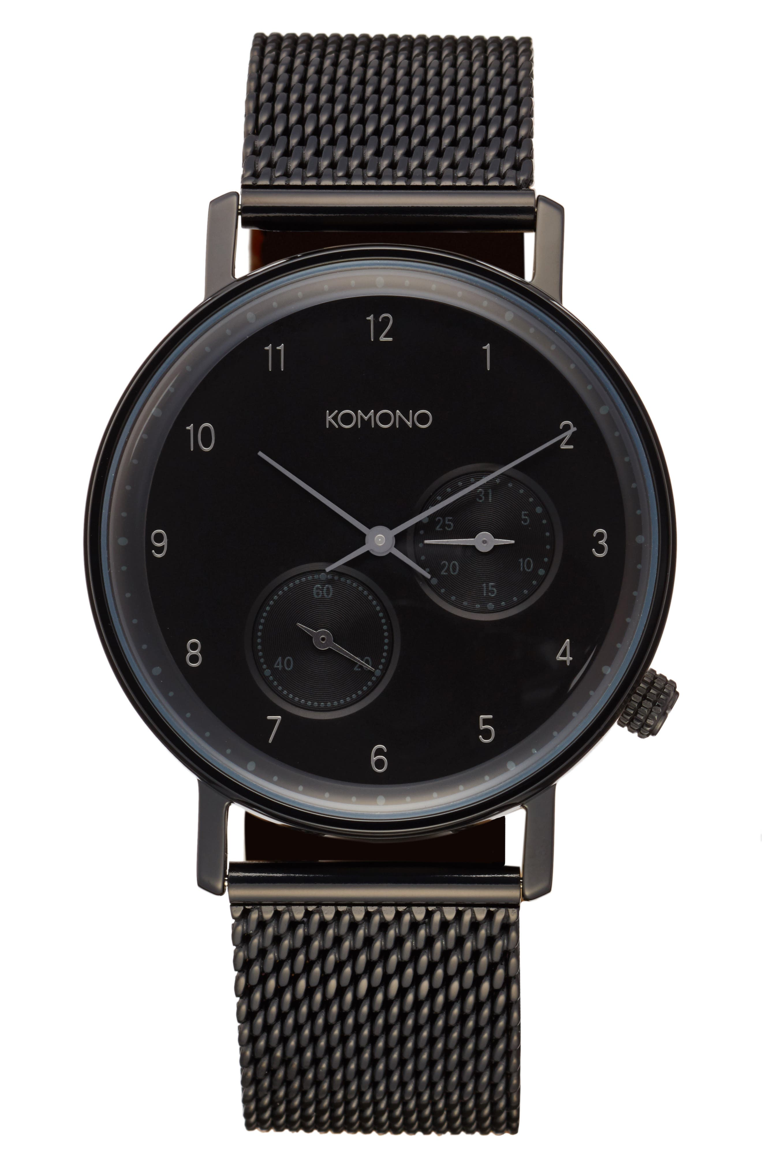 Alternate Image 1 Selected - Komono Walther Chronograph Mesh Strap Watch, 40mm