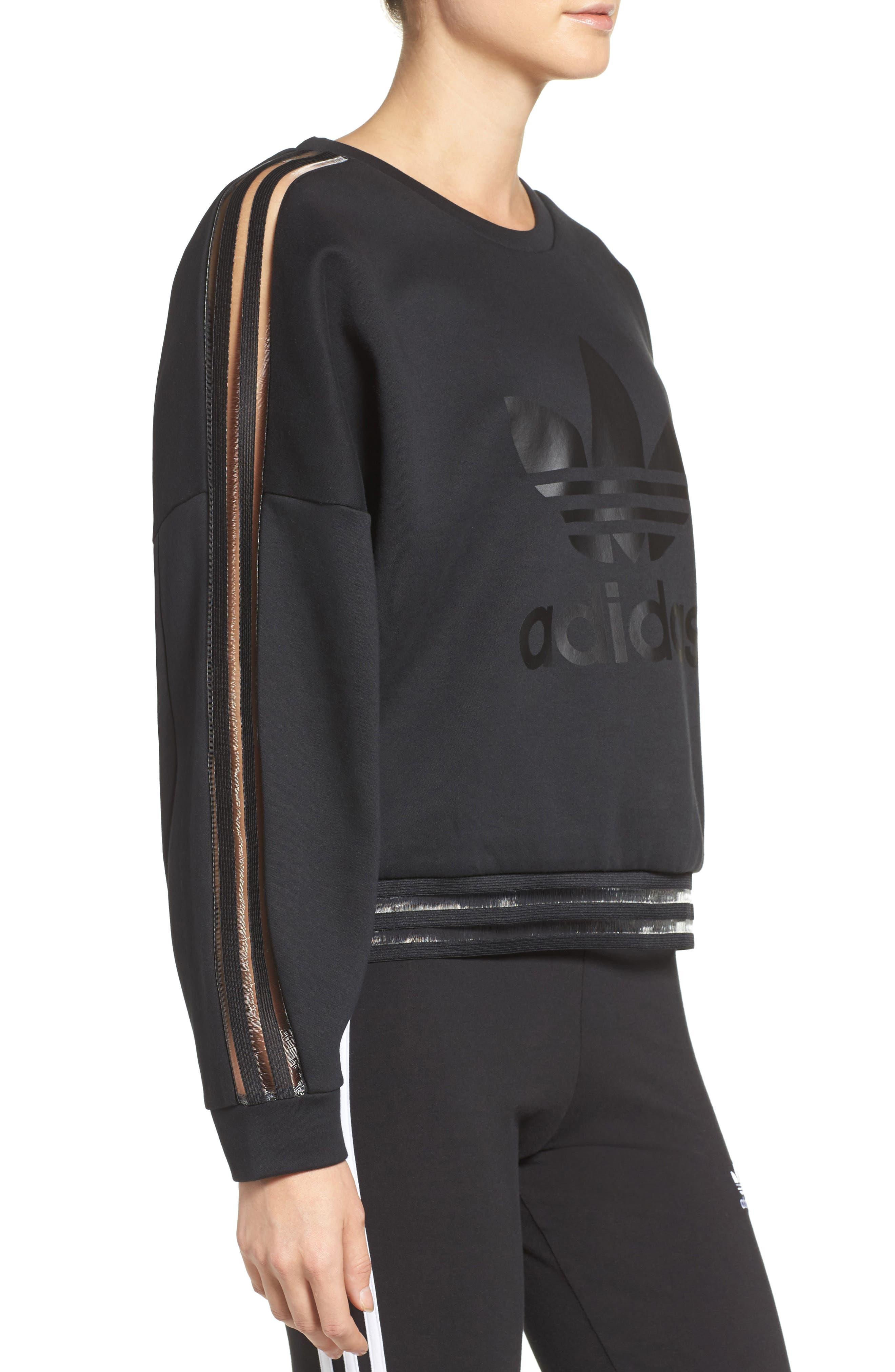 Alternate Image 3  - adidas Originals Shadow Stripe Sweatshirt