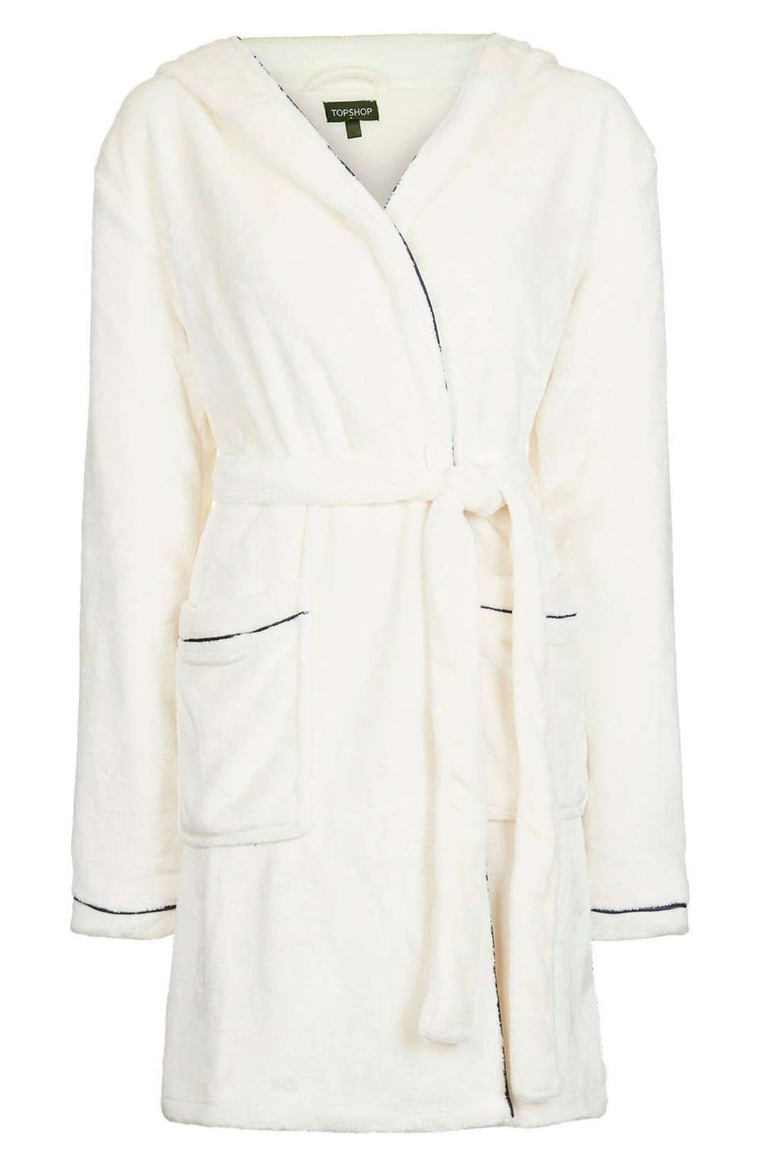 Alternate Image 4  - Topshop Not a Morning Person Hooded Robe
