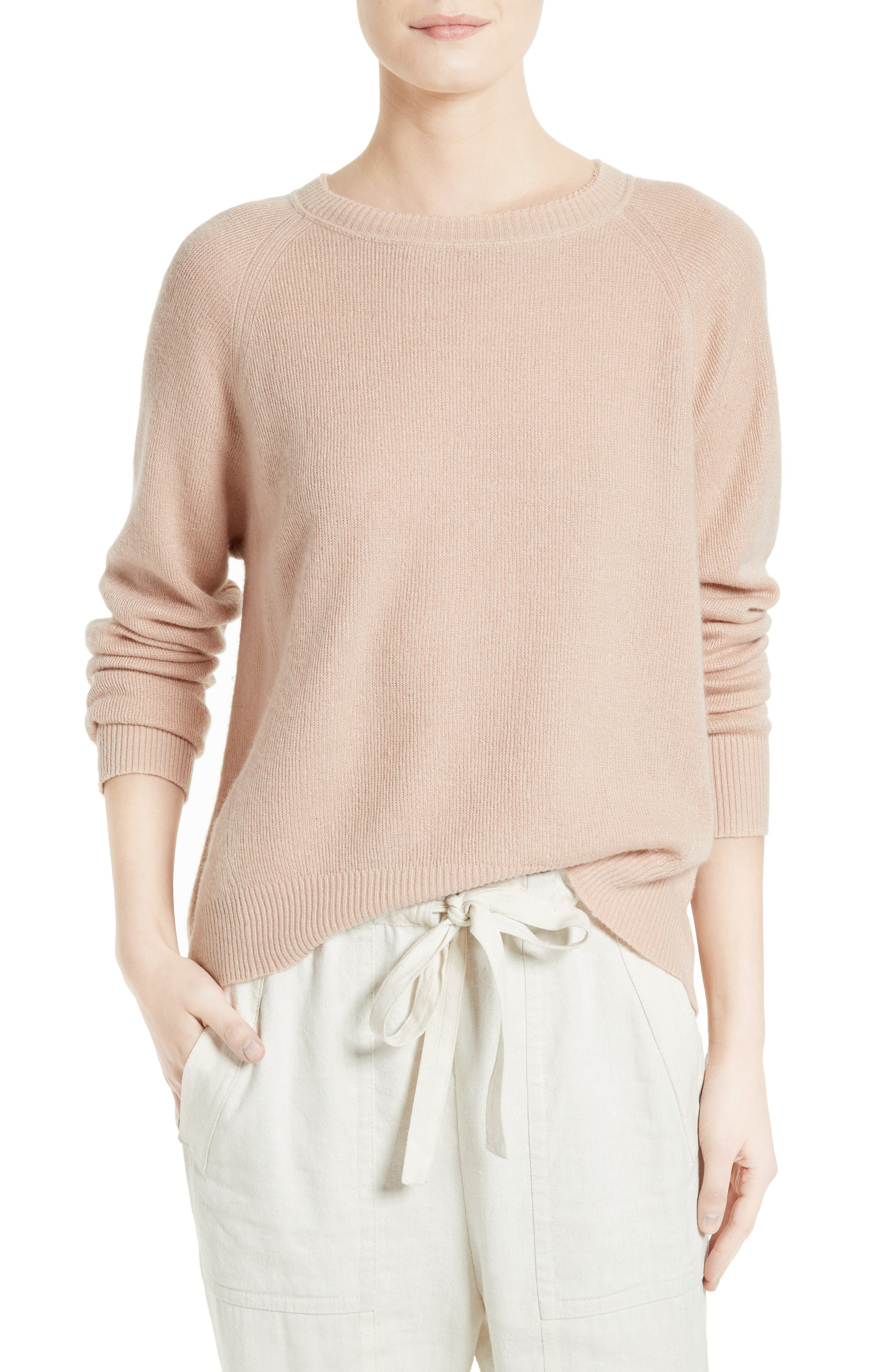 Main Image - Vince Boxy Cashmere & Linen Pullover